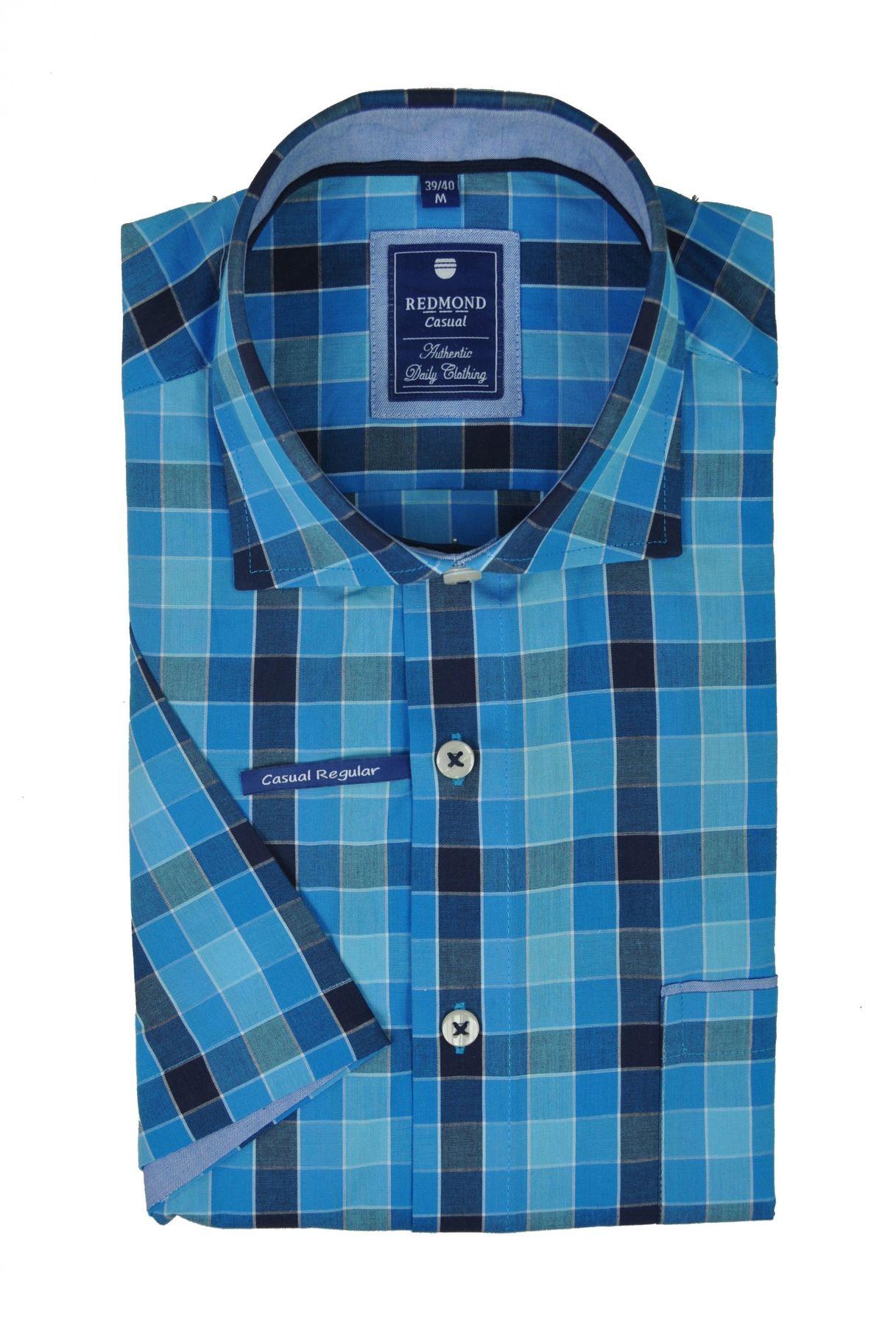 Redmond - Regular Fit - Herren Kurzarm Hemd mit Haifisch Kragen (71130999/-993) – Bild 5