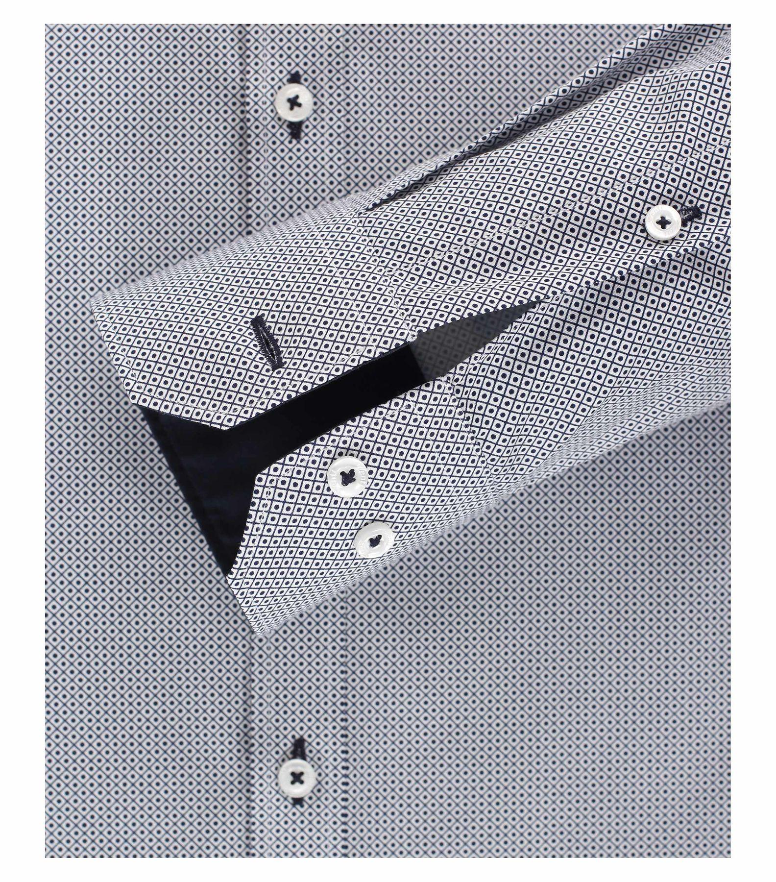 Venti - Slim Fit - Herren Hemd mit modischem Aufdruck aus 100% Baumwolle mit Kent Kragen (1162568100) – Bild 4