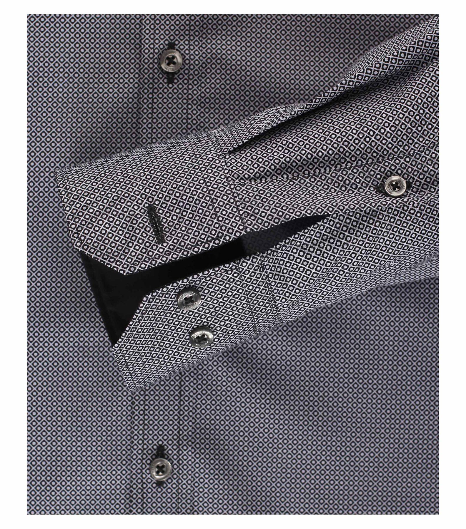 Venti - Slim Fit - Herren Hemd mit modischem Aufdruck aus 100% Baumwolle mit Kent Kragen (1162568100) – Bild 12