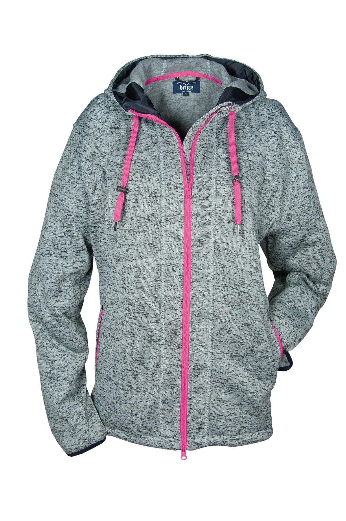 """Brigg - Damen Strickfleece-Hooded """"Gabi"""", F/S, (10 723 534) – Bild 1"""
