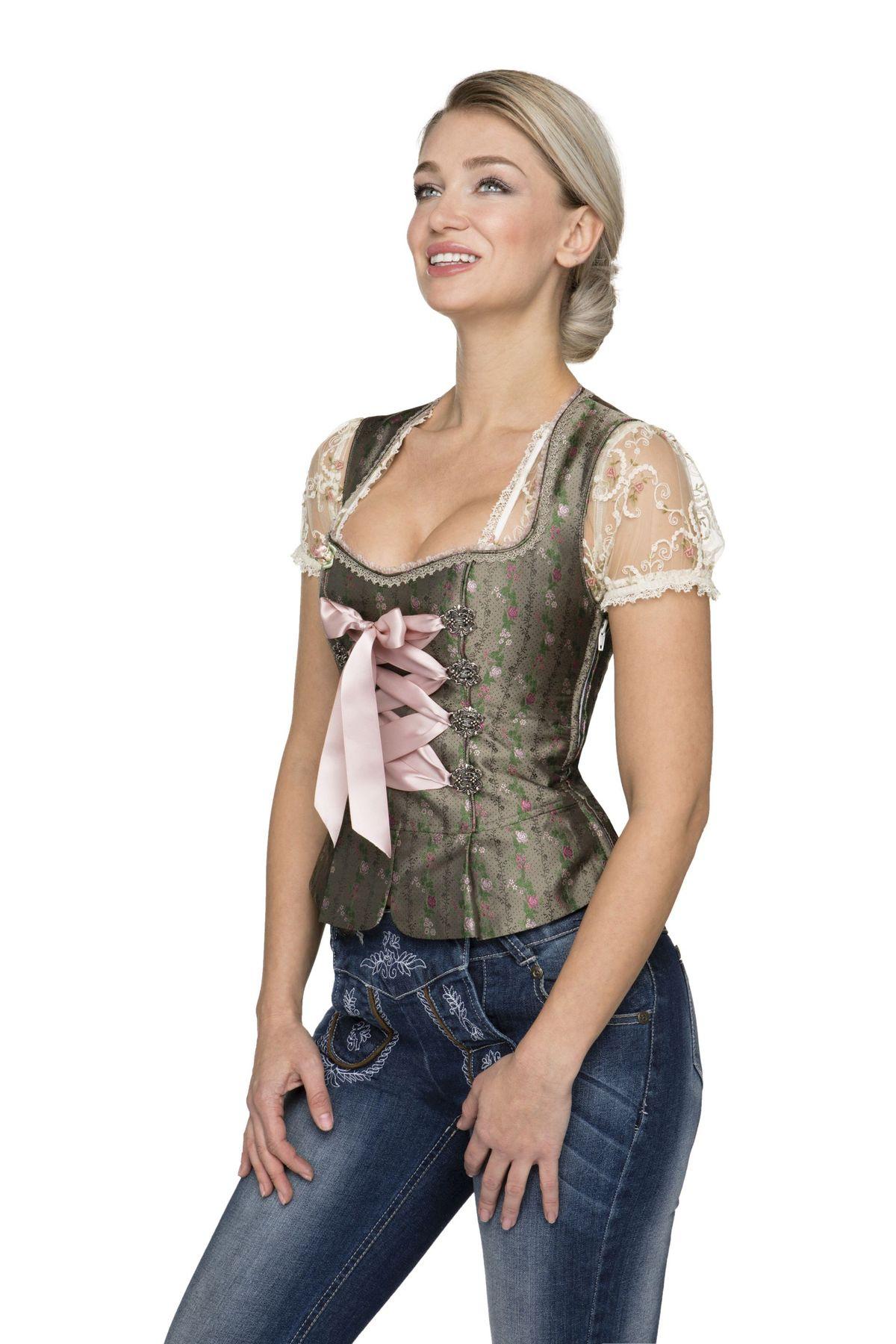 Stockerpoint - Damen Trachten Mieder, Brooke bronze – Bild 6