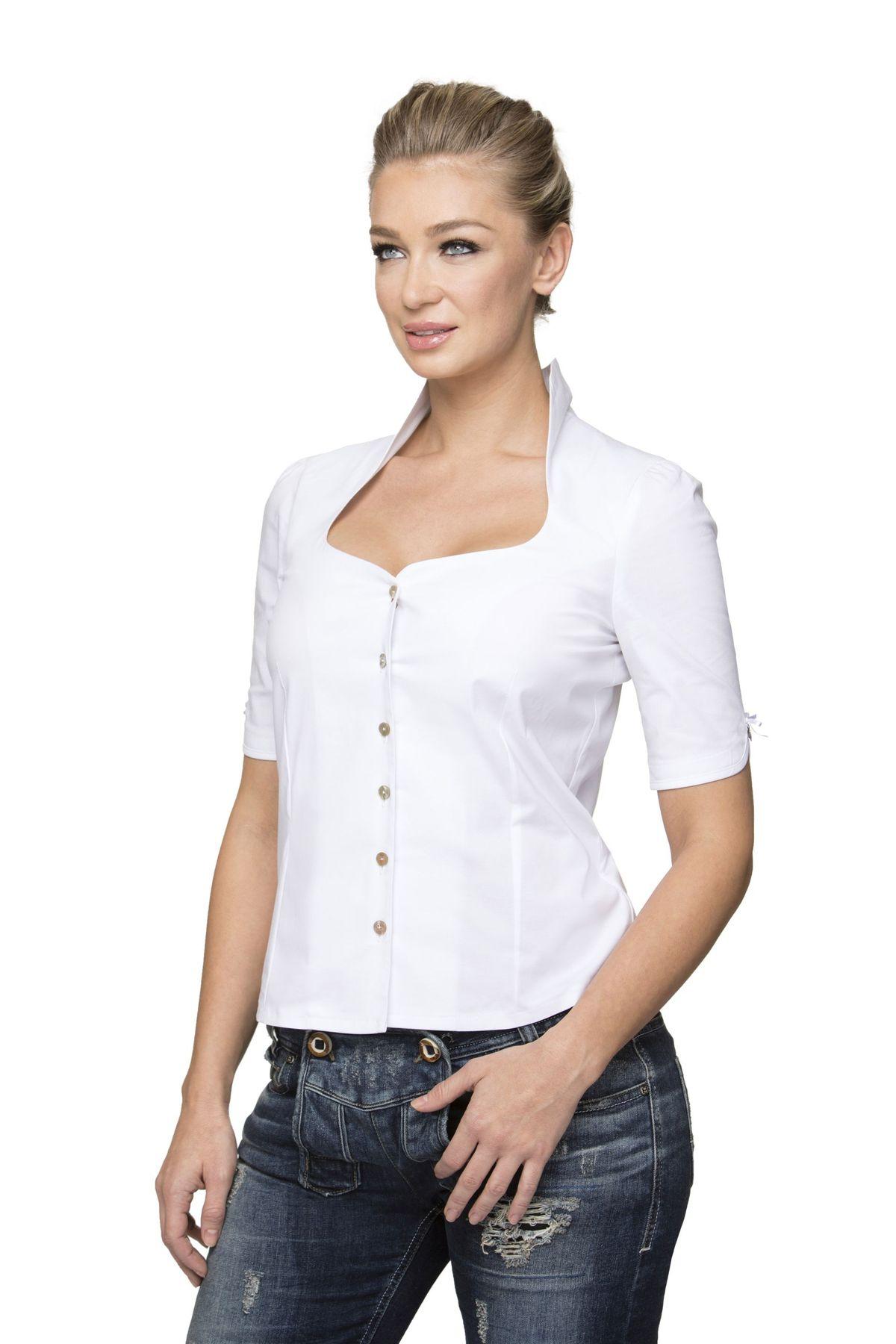 Stockerpoint- Damen Trachten Bluse, Priscilla – Bild 5