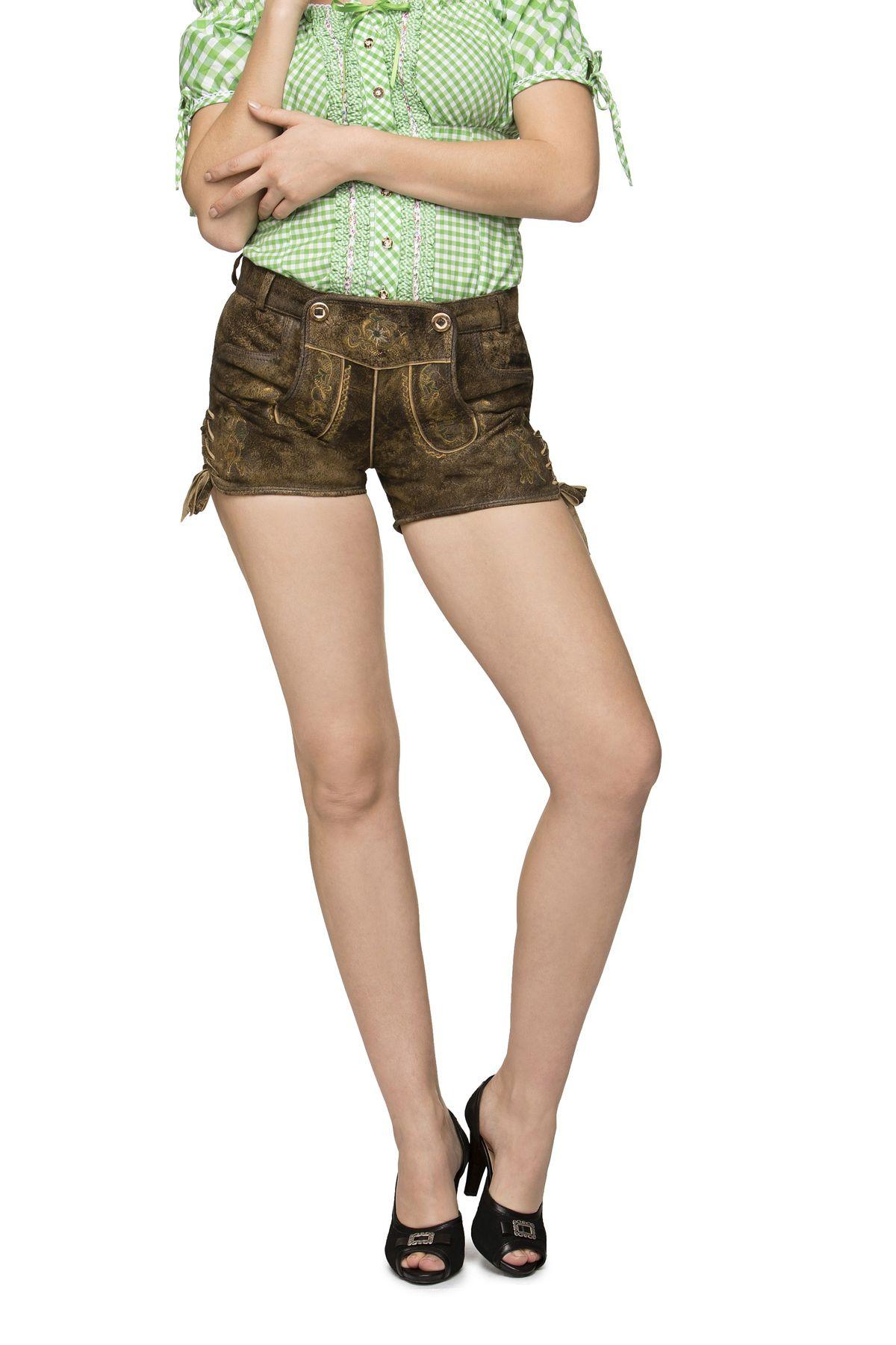 Stockerpoint - Damen Trachten Lederhose kurz, Xenia – Bild 10