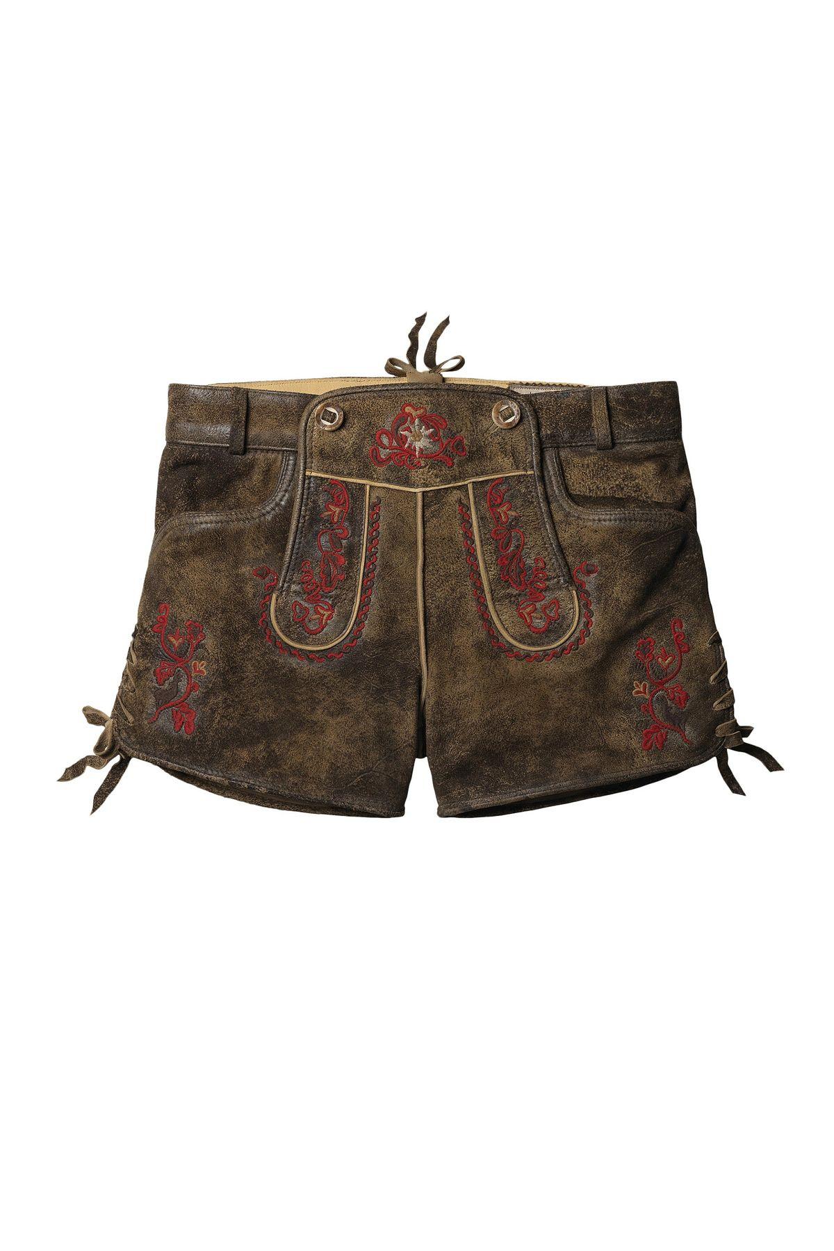 Stockerpoint - Damen Trachten Lederhose kurz, Xenia – Bild 1