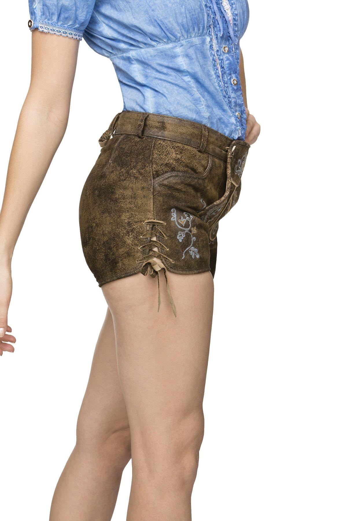 Stockerpoint - Damen Trachten Lederhose kurz, Xenia – Bild 14