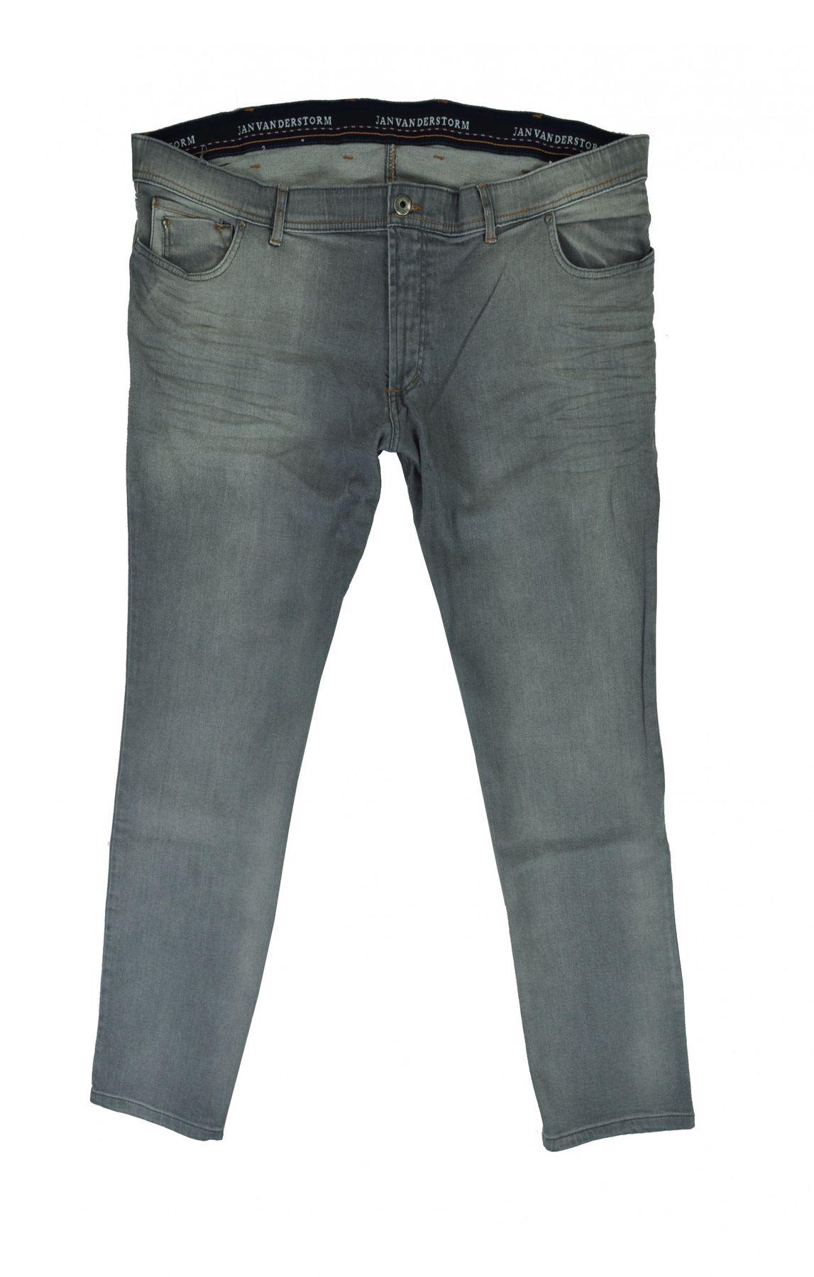 Herren Übergrößen 5 Pocket Jeans in Anthrazit (083703)