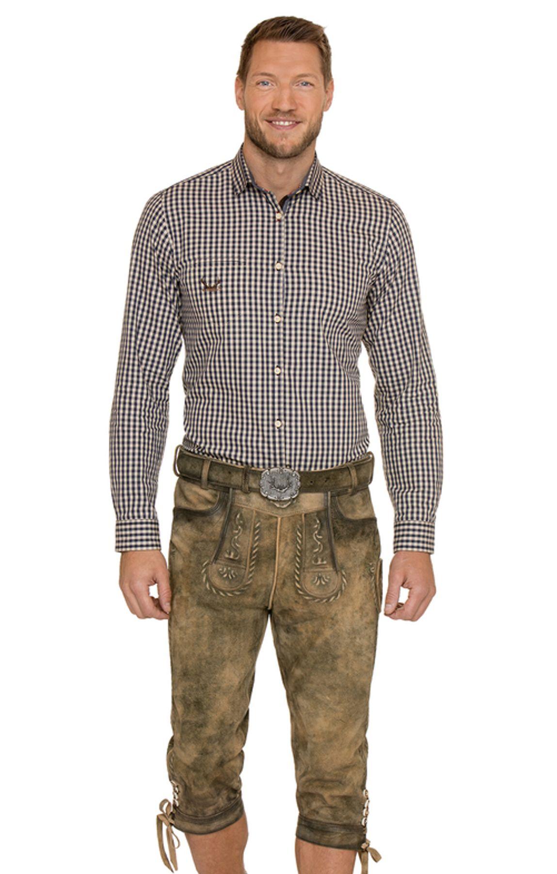 Stockerpoint - Herren Trachten Lederhose mit Gürtel in verschiedenen Farben, Johann – Bild 8