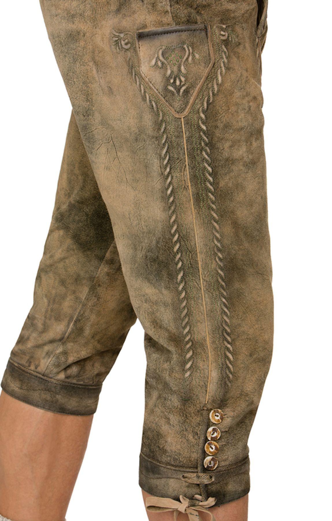 Stockerpoint - Herren Trachten Lederhose mit Gürtel in verschiedenen Farben, Johann – Bild 9