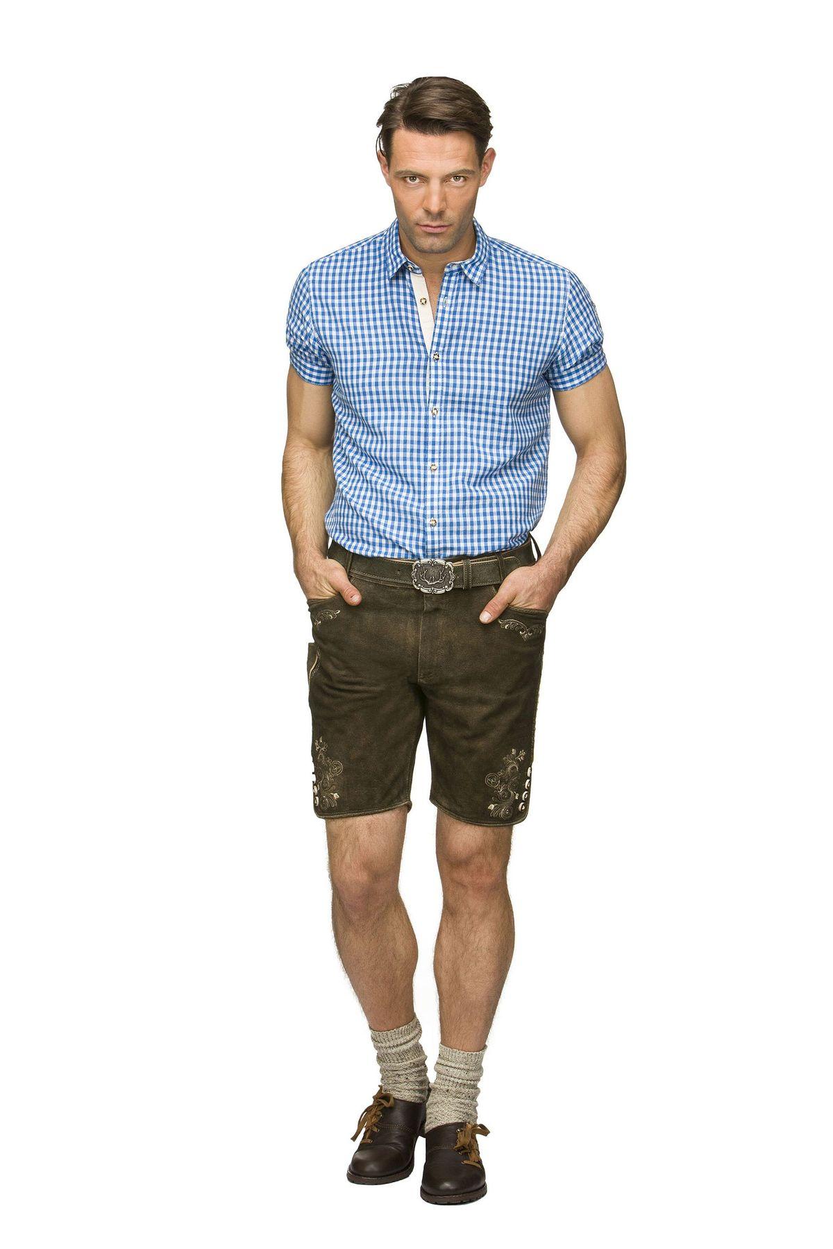 Stockerpoint - Herren Trachten Lederhose mit Gürtel in verschiedenen Farben, Corbi3 – Bild 7