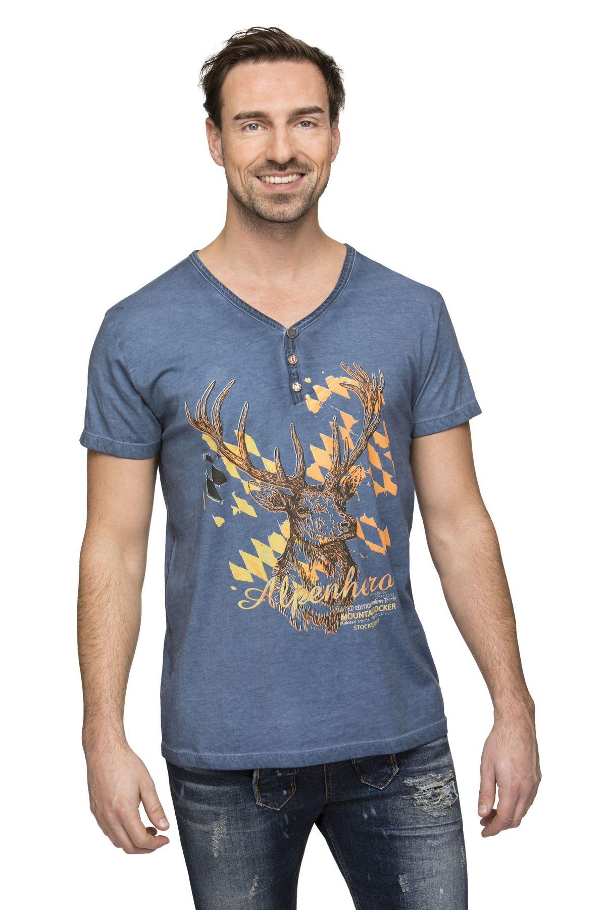 Stockerpoint - Herren Trachten T-Shirt, Feli – Bild 8
