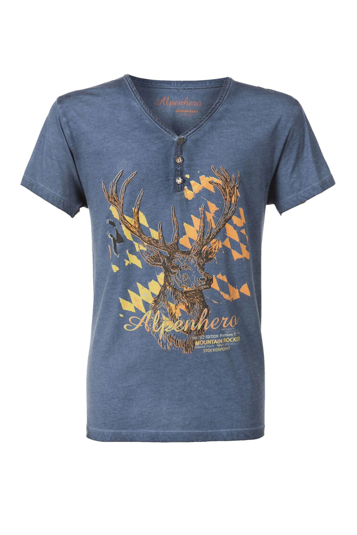 Stockerpoint - Herren Trachten T-Shirt, Feli – Bild 5