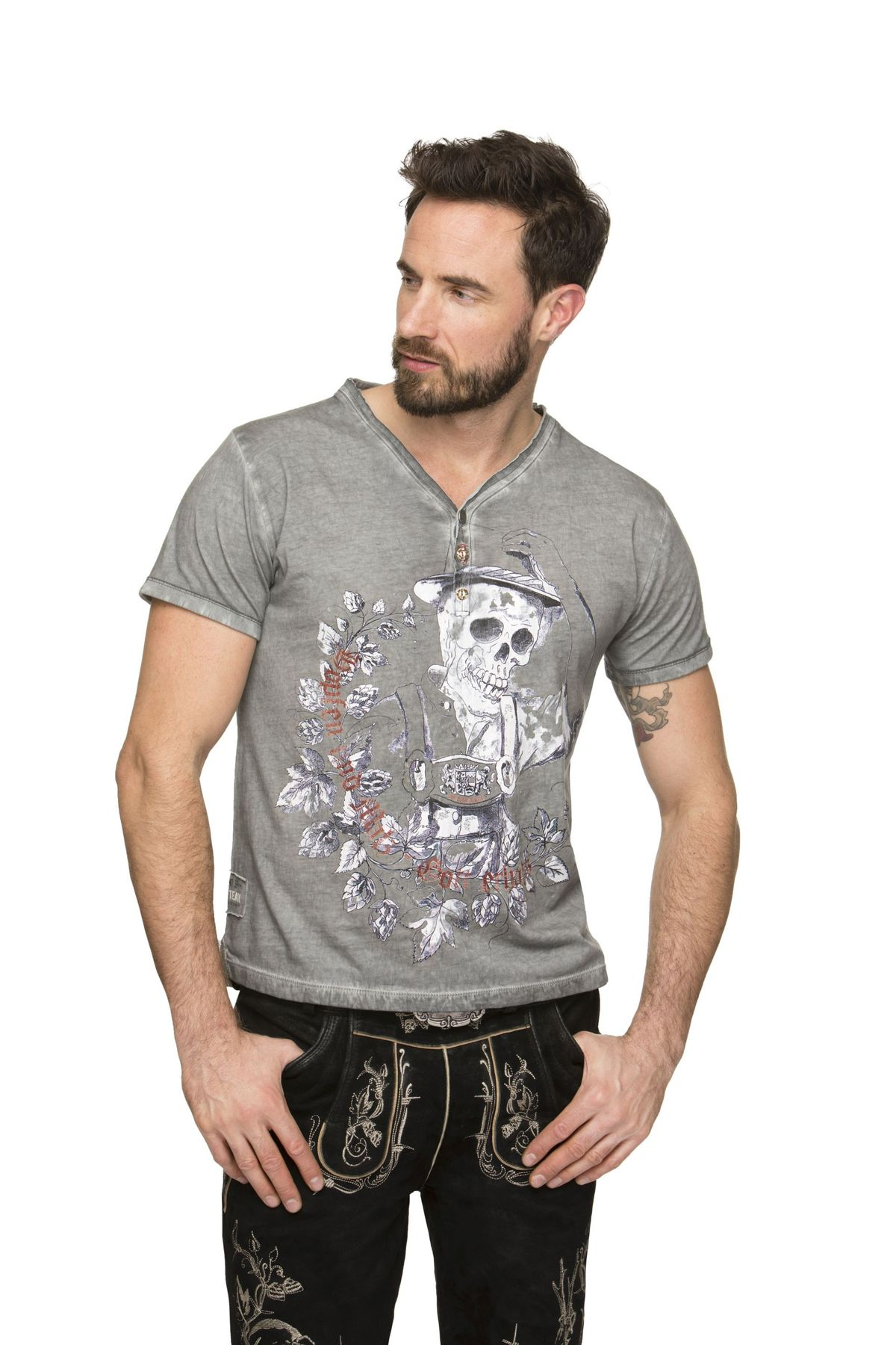 Stockerpoint - Herren Trachten T-Shirt, Oskar – Bild 6