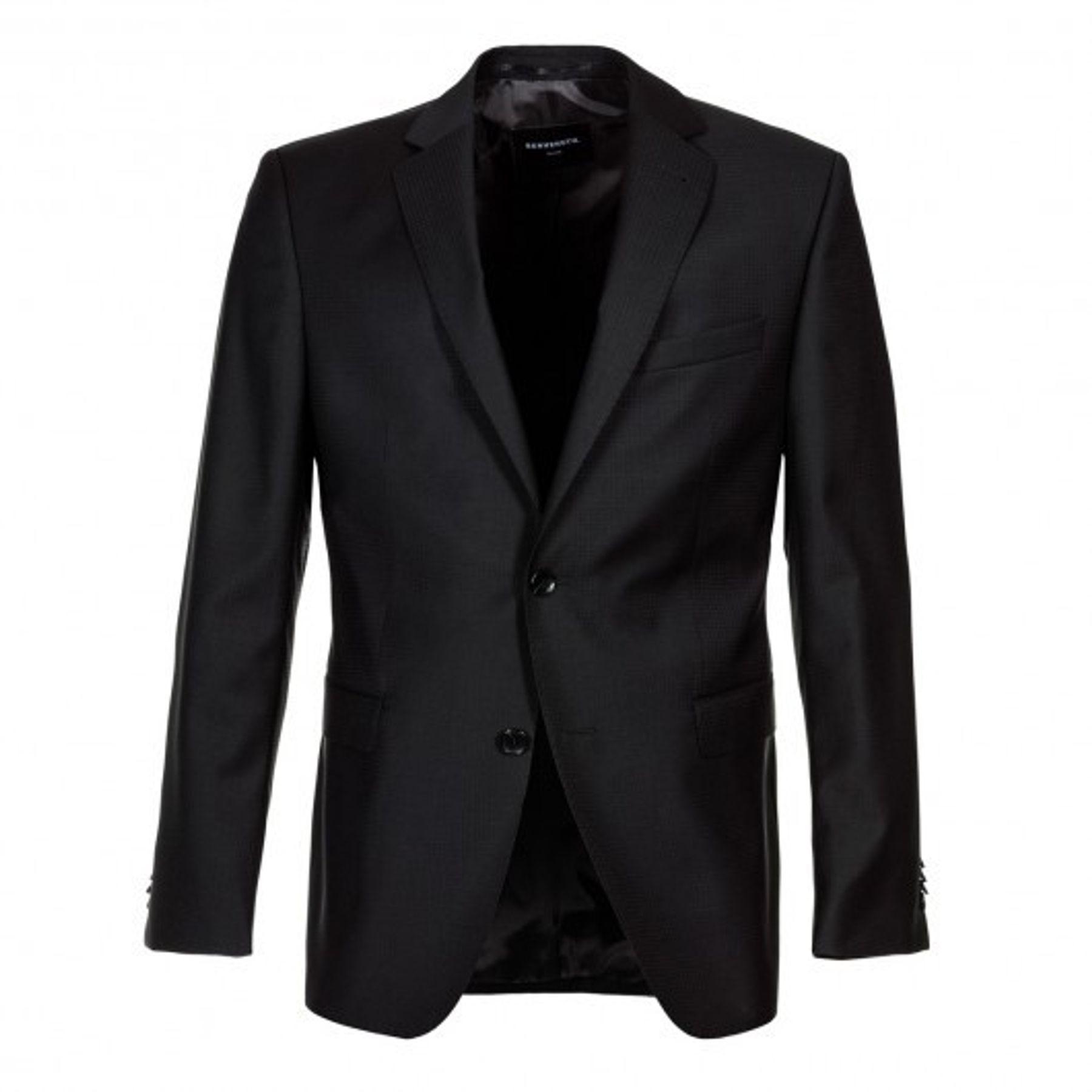 Benvenuto Black - Modern Fit - Herren Baukasten Sakko aus Super 100'S Schurwolle, Romeo (20808, Modell: 62100) – Bild 2
