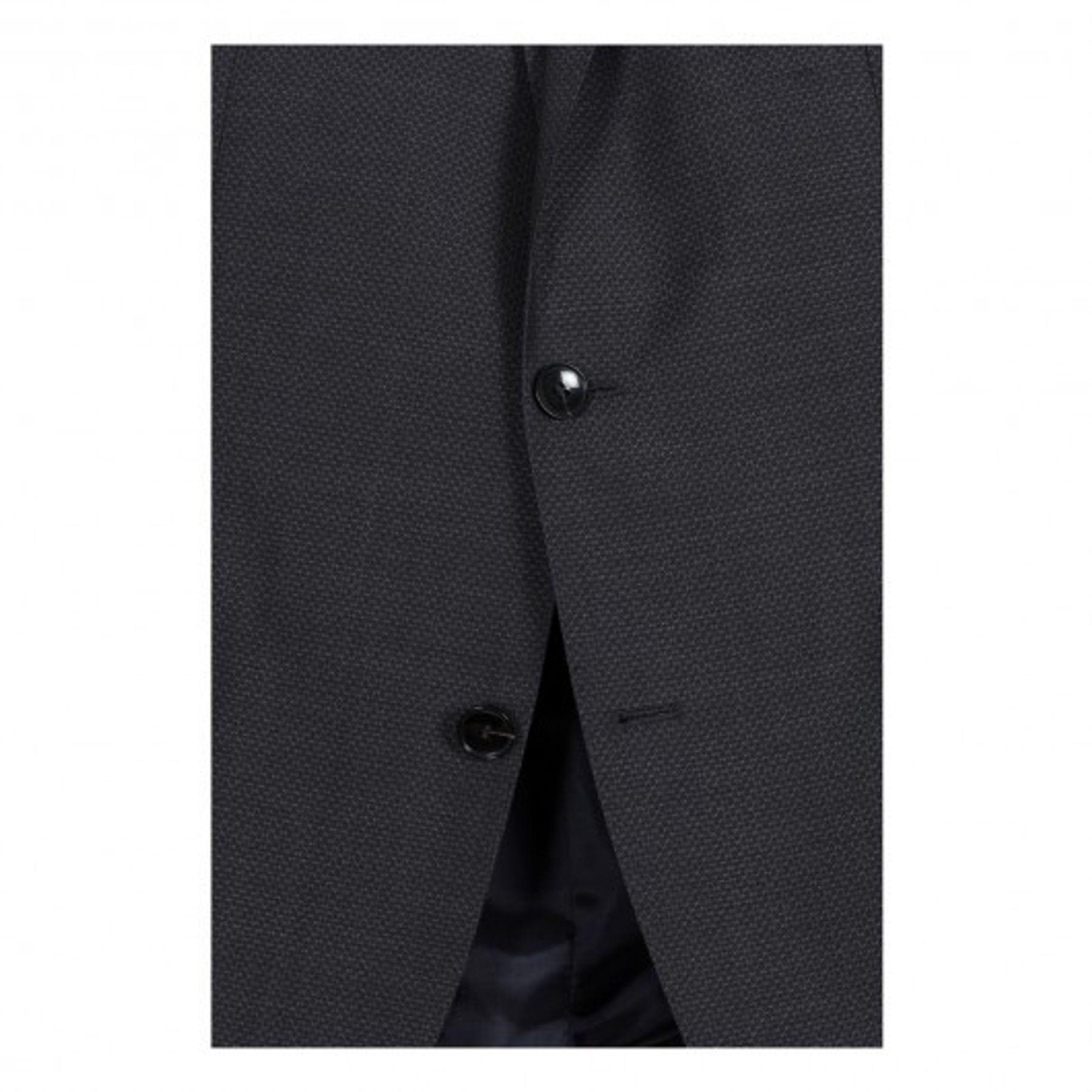 Benvenuto Black - Modern Fit - Herren Baukasten Sakko in Anthrazit aus Super 100'S Schurwolle, Romeo (20807, Modell: 62100) – Bild 3