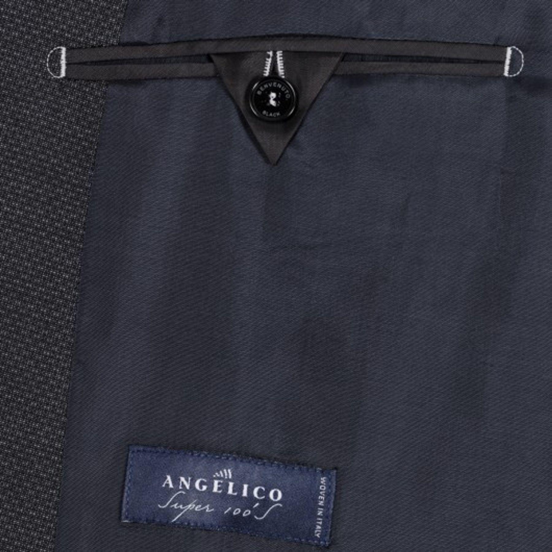 Benvenuto Black - Modern Fit - Herren Baukasten Sakko in Anthrazit aus Super 100'S Schurwolle, Romeo (20807, Modell: 62100) – Bild 4