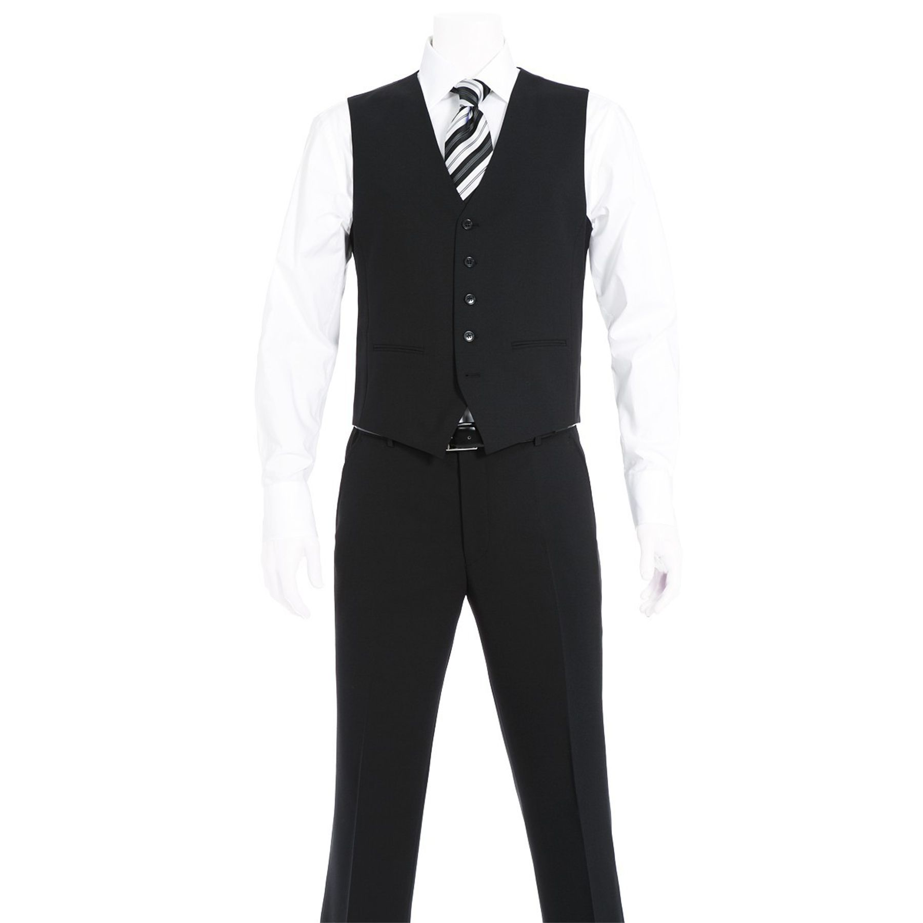 Benvenuto Black - Regular Fit - Herren Baukasten Weste (Artikel: 20097, Modell: 60211) – Bild 3