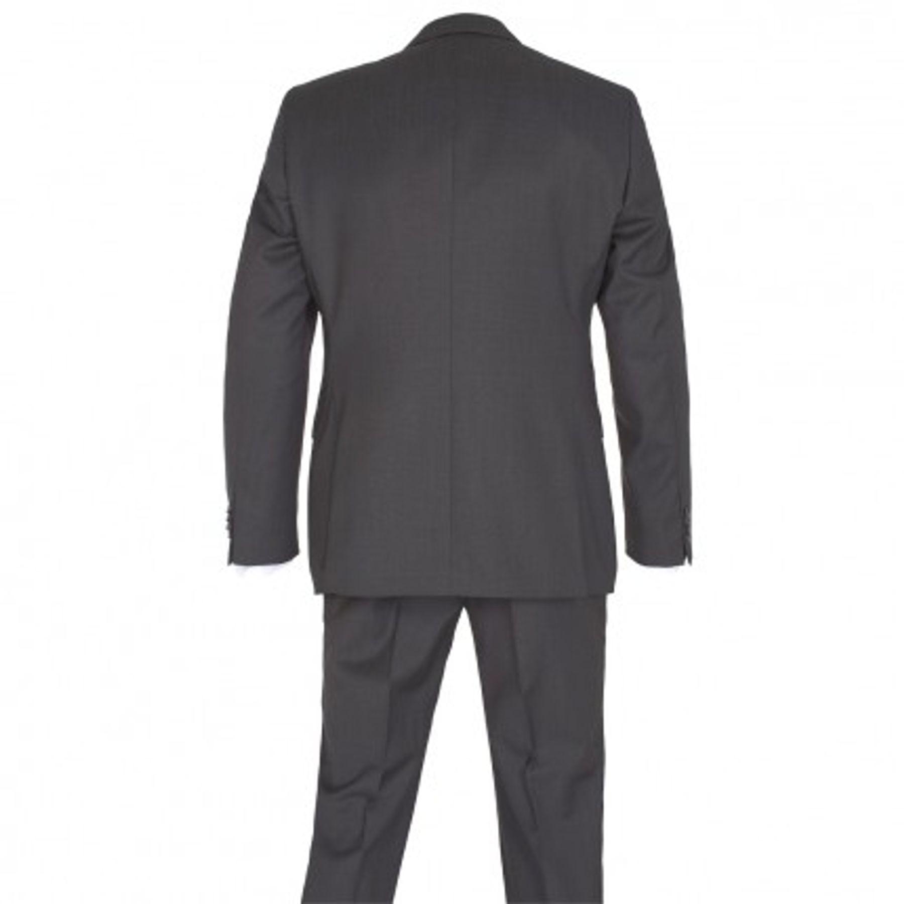 Benvenuto Black - Modern Fit - Herren Baukasten Anzug gemustert aus Super 100'S Schurwolle, (20711, Modell: 62100, 62400) – Bild 2