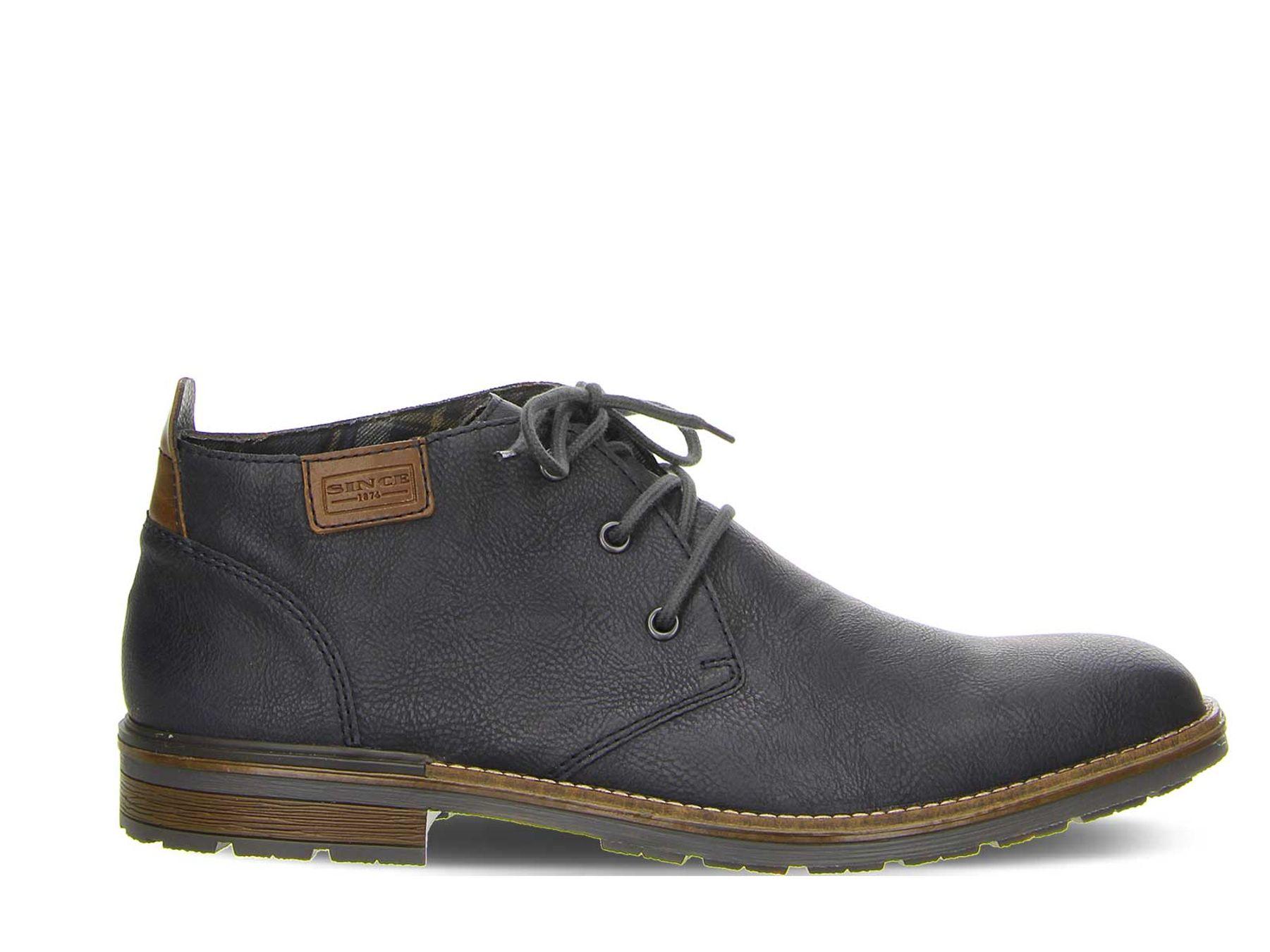Rieker - Herren Schnür Schuh in Blau oder Braun (B1340) – Bild 1