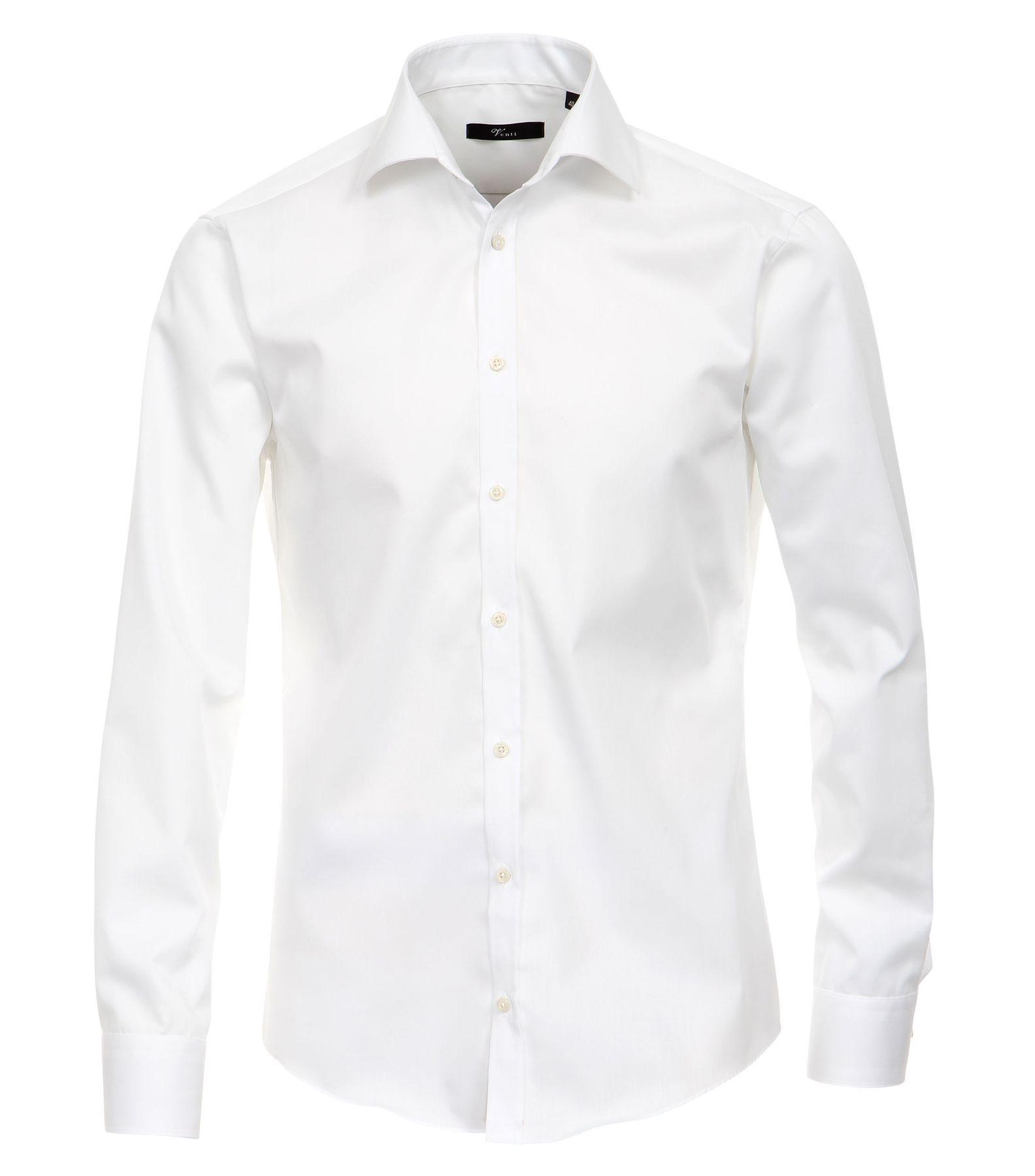 Venti - Slim Fit - Bügelfreies Herren Langarm Hemd mit Haifisch Kragen in verschiedenen Farben (001800 A) – Bild 2