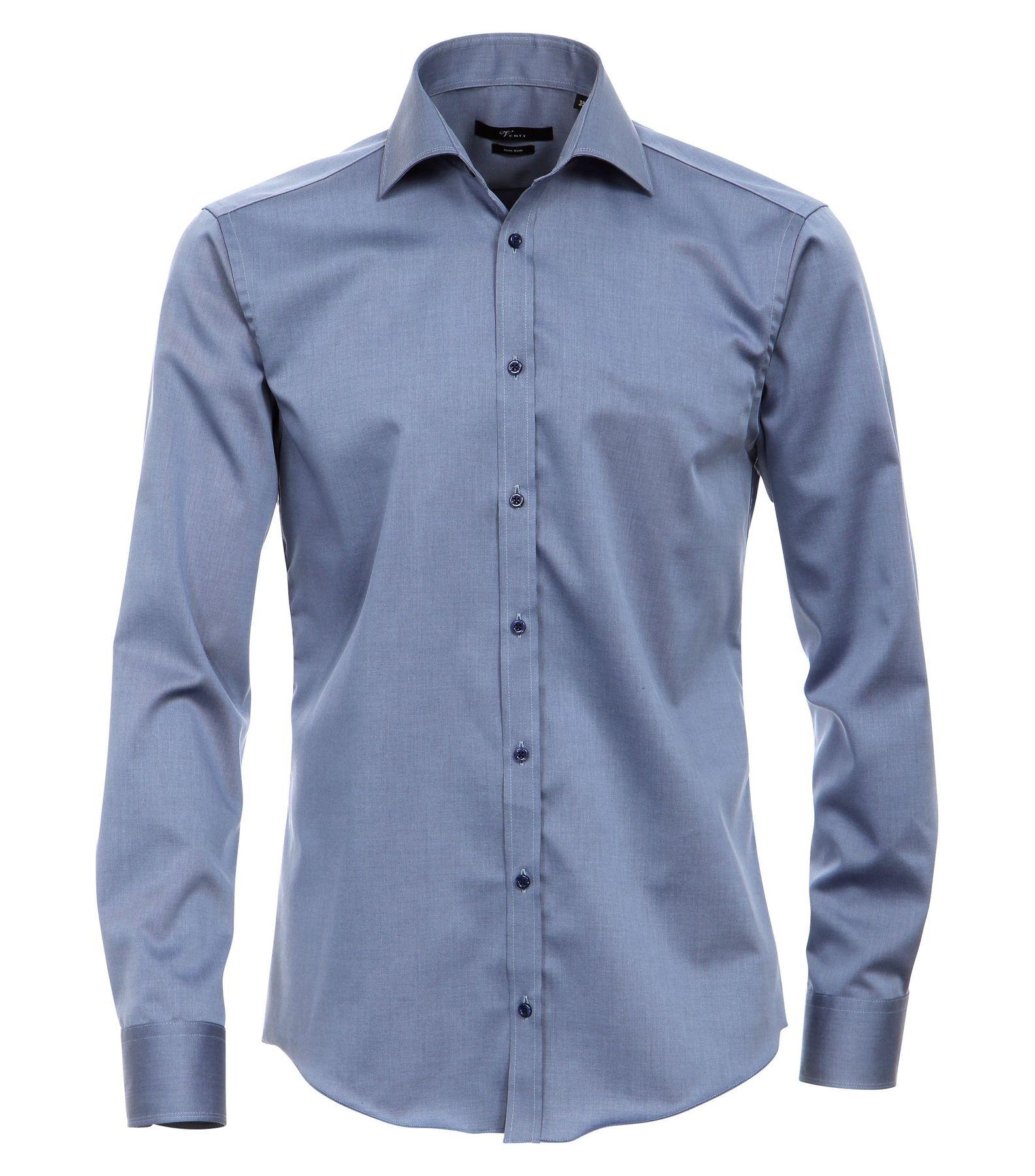 Venti - Slim Fit - Bügelfreies Herren Langarm Hemd mit Haifisch Kragen in verschiedenen Farben (001800 A) – Bild 1