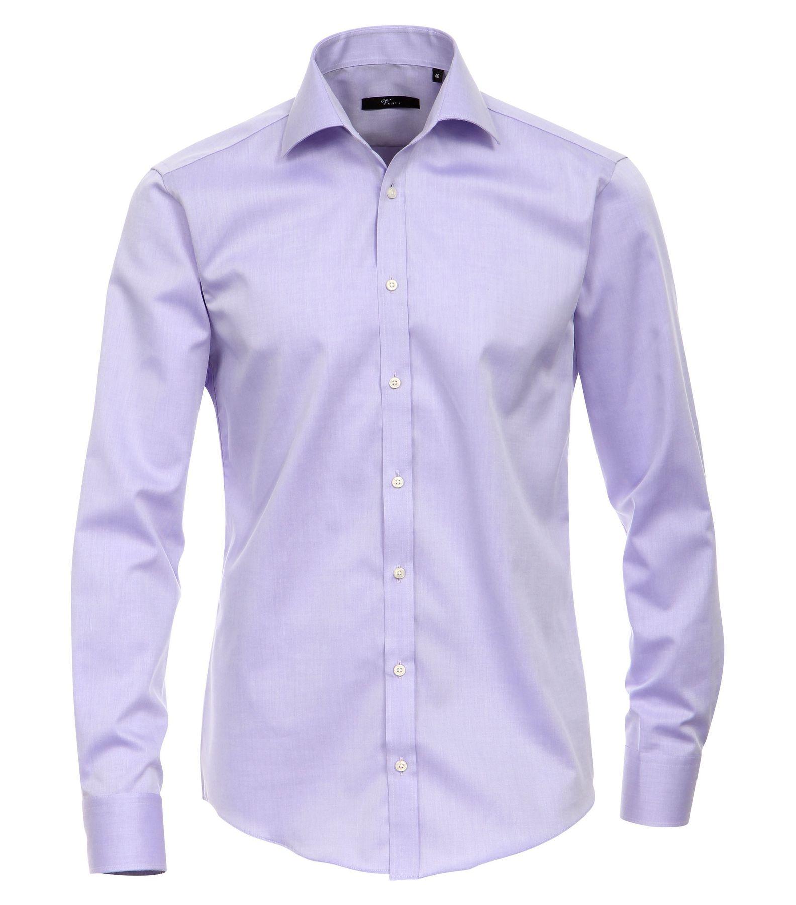 Venti - Slim Fit - Bügelfreies Herren Langarm Hemd mit Haifisch Kragen in verschiedenen Farben (001800 A) – Bild 8