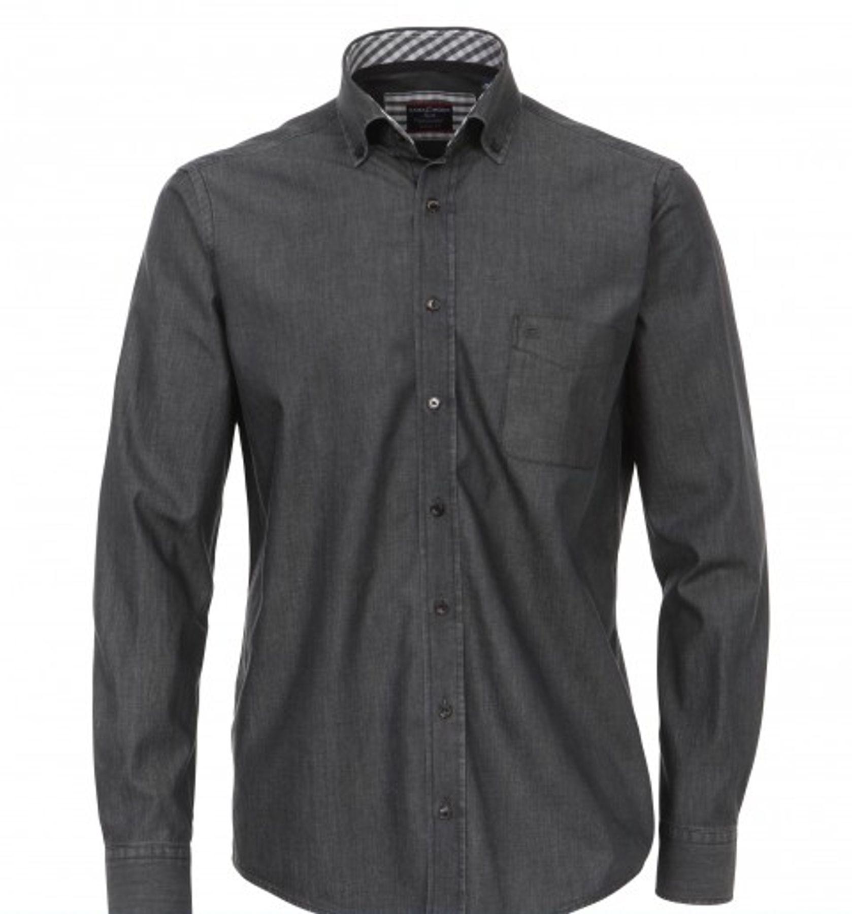 Casa Moda - Casual Fit - Bügelleichtes Herren Langarm Jeans Hemd in verschiedenen Farbtönen S-7XL (006303) – Bild 6