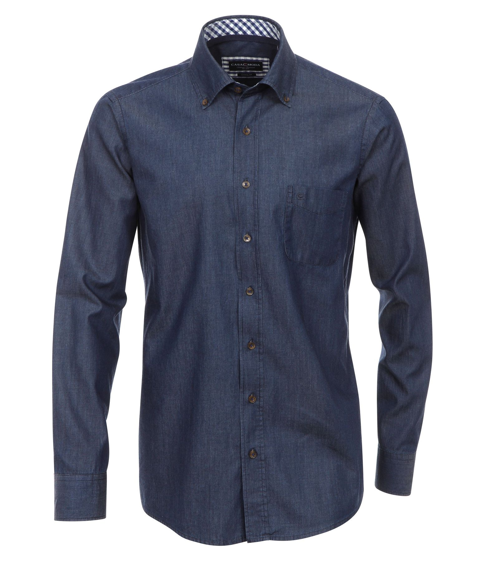 Casa Moda - Casual Fit - Bügelleichtes Herren Langarm Jeans Hemd in verschiedenen Farbtönen S-7XL (006303)