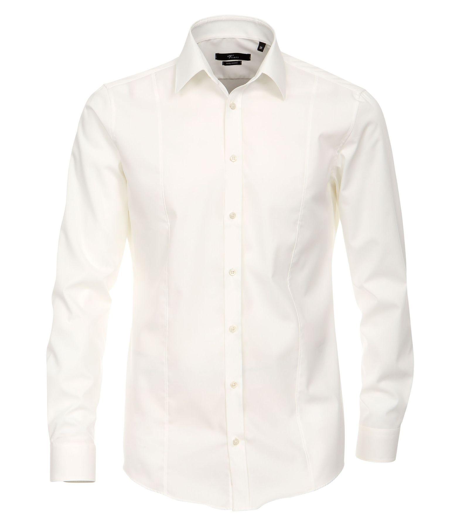Venti - Body Fit/Super Slim Fit - Bügelfreies Herren Langarm Hemd in diversen Farben (001470) – Bild 6