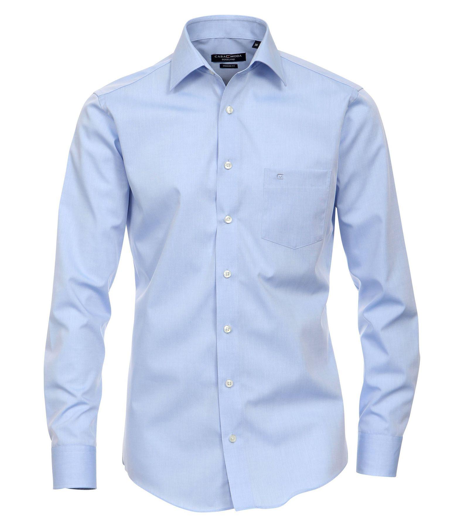 Casa Moda - Modern Fit - Bügelfreies Herren Business Hemd mit Extra langem Arm (72cm) in verschiedenen Farben (006562)