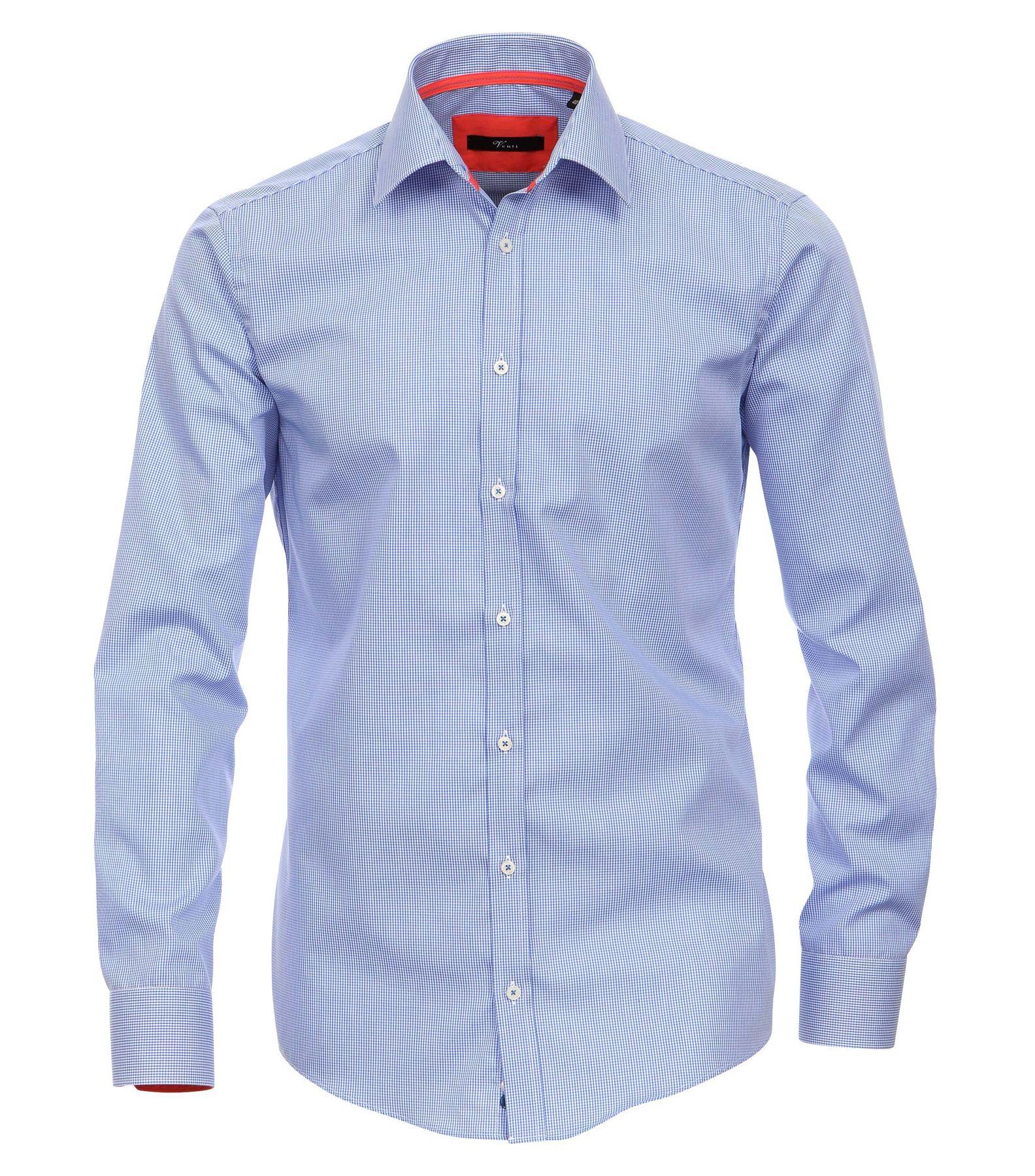 Venti - Slim Fit - Bügelfreies Herren Hemd mit Extra langem Arm (72cm) kariert in verschiedenen Farben (001862)