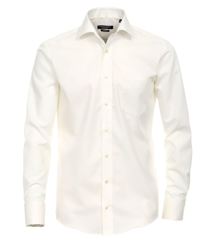 CASAMODA - Evening - Festliches Bügelfreies Herren Hemd, weiß, schwarz und creme (006556)
