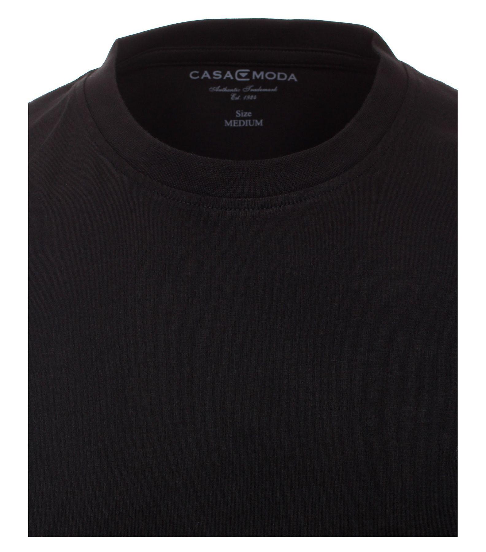 Casa Moda - Herren T-Shirt mit Rundhals im 2er Pack, schwarz oder weiß, S-6XL (092180) – Bild 3