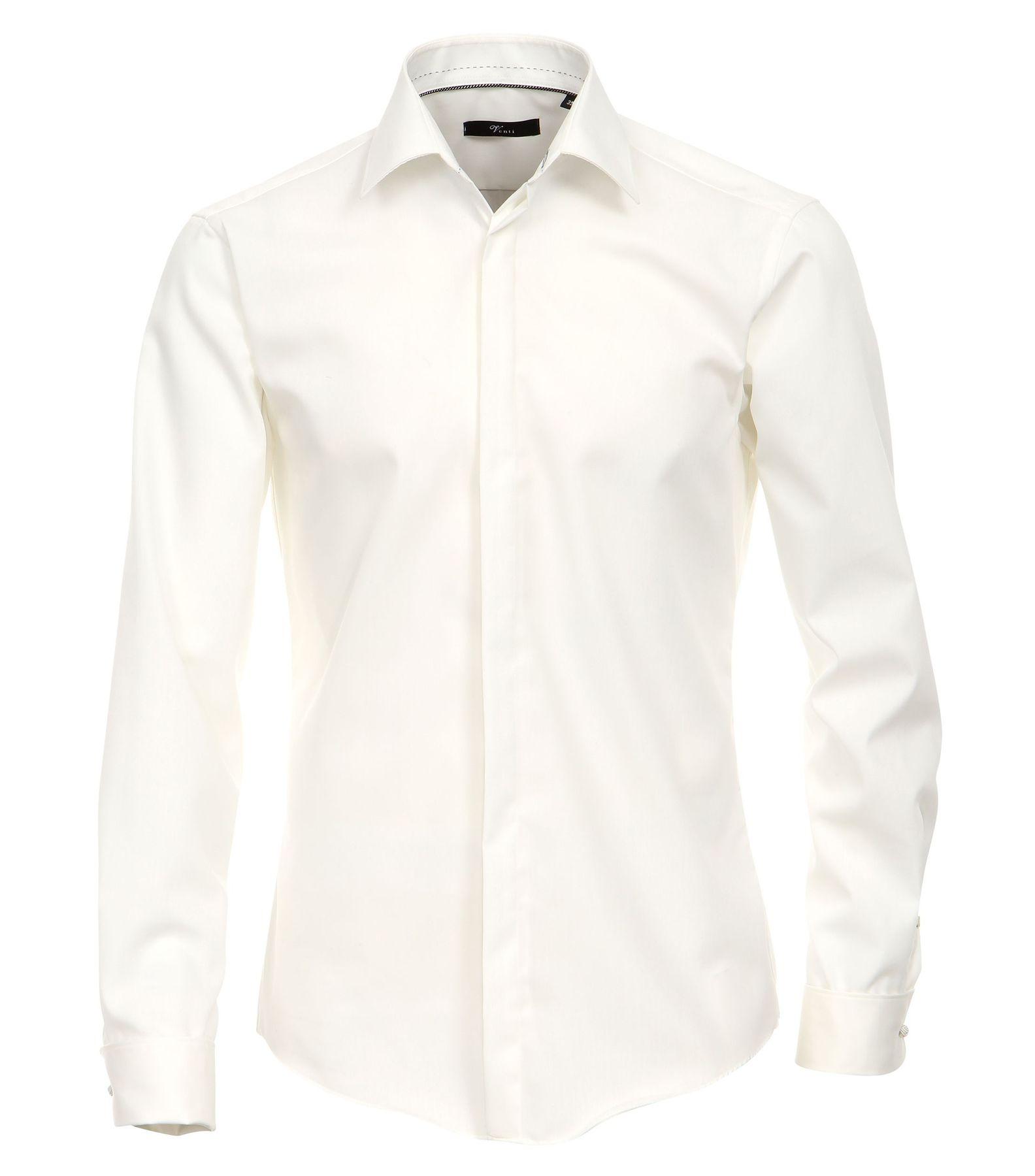 Venti - Evening - Slim Fit-  Festliches Bügelfreies Herren Hemd mit extra langem Arm (72cm) (001842)