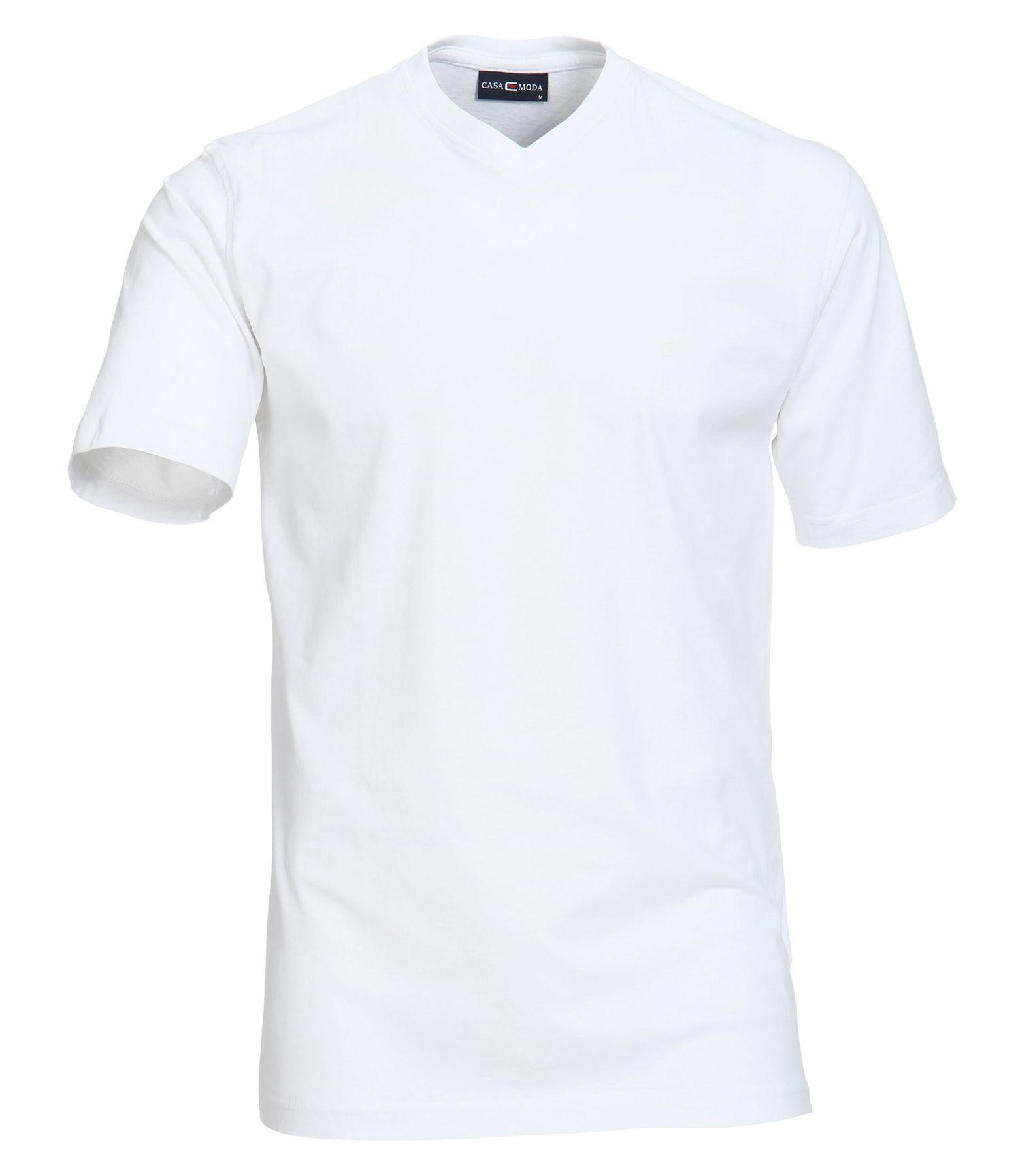 Casa Moda - Herren T-Shirt mit V-Ausschnitt im 2er Pack, schwarz oder weiß, S-6XL (092183)