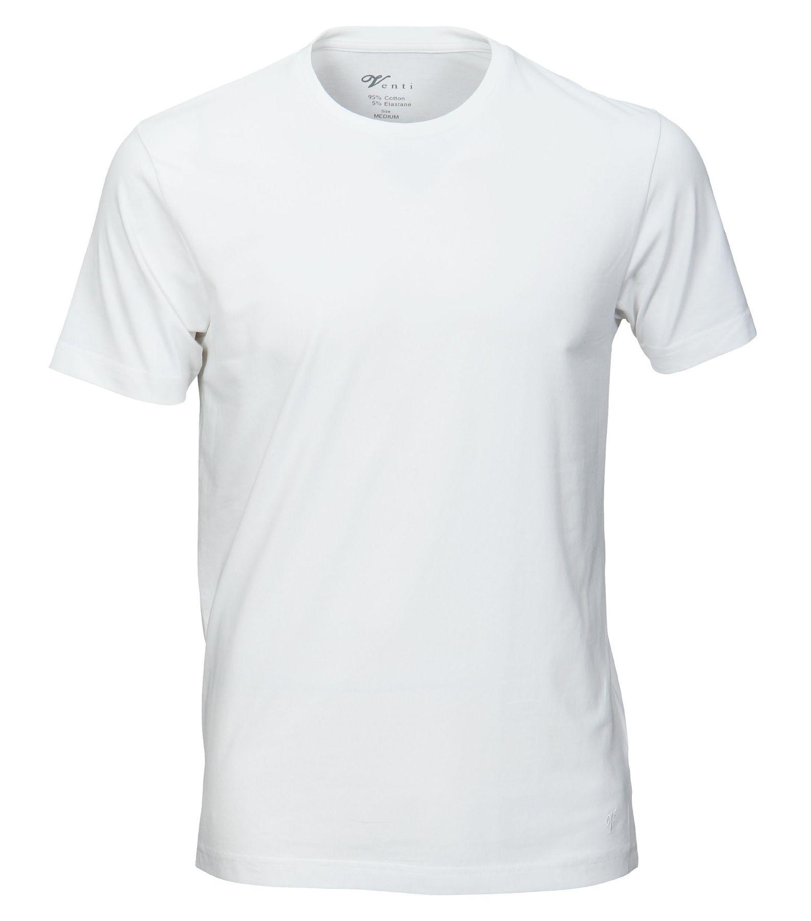 Venti - Slim Fit - Herren T-Shirt mit Rundhals im 2er Pack, schwarz oder weiß (001650) – Bild 2