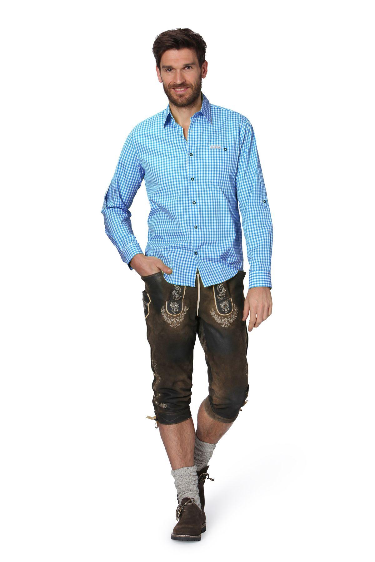 Stockerpoint - Herren Trachtenhemd, kariert in verschiedenen Farbvarianten, Campos2 – Bild 6