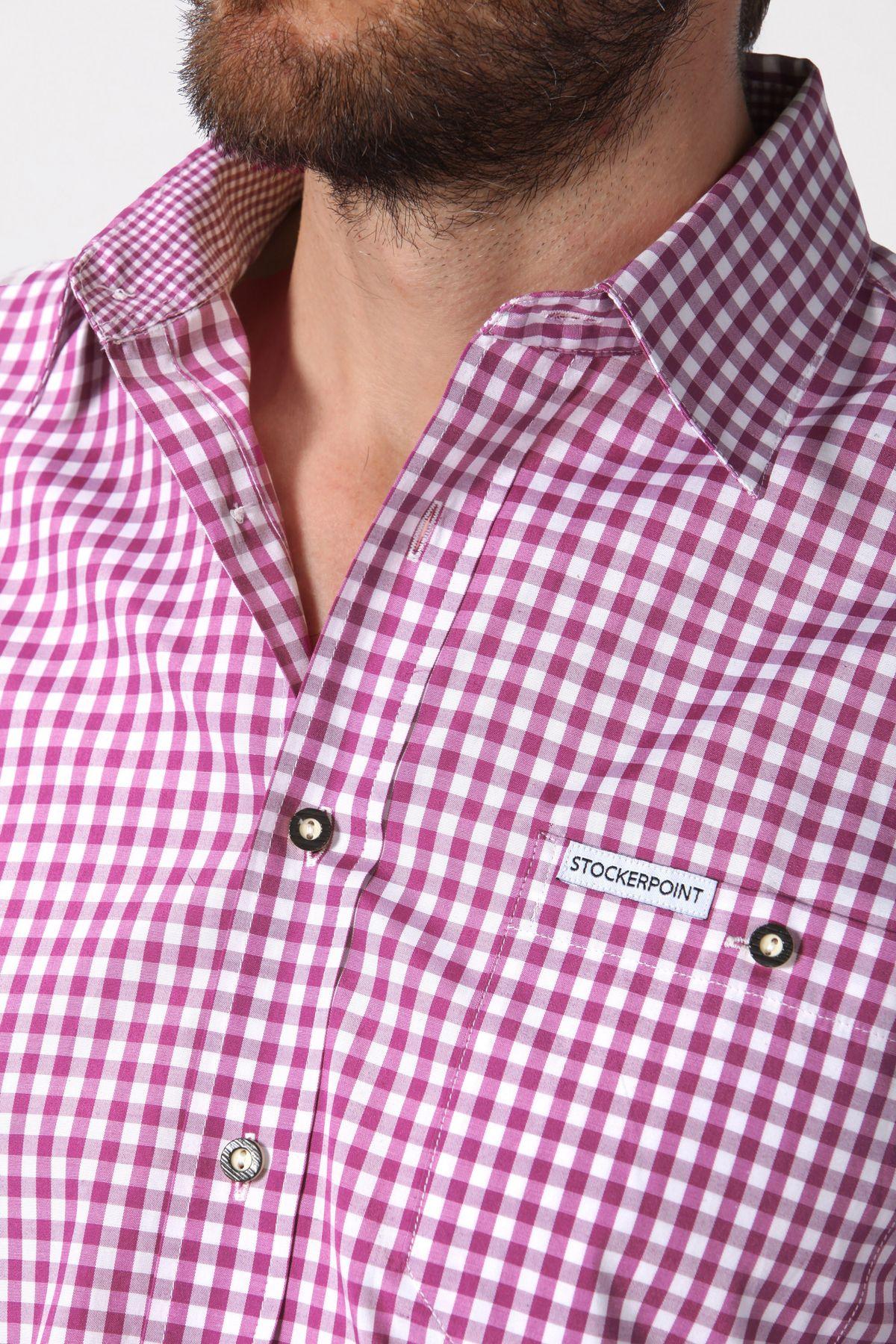Stockerpoint - Herren Trachtenhemd, kariert in verschiedenen Farbvarianten, Campos2 – Bild 5