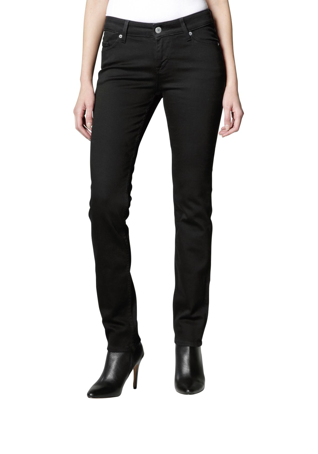 Mustang - Slim Leg/Medium Rise - Damen Jeans Hose in Schwarz (midnight black), Jasmin Slim (586-5174-490)