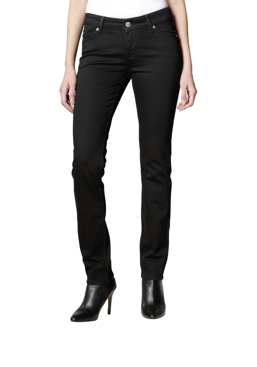 Mustang - Slim Leg/Medium Rise - Damen Jeans Hose in Schwarz (midnight black), Jasmin Slim (586-5174-490) 001