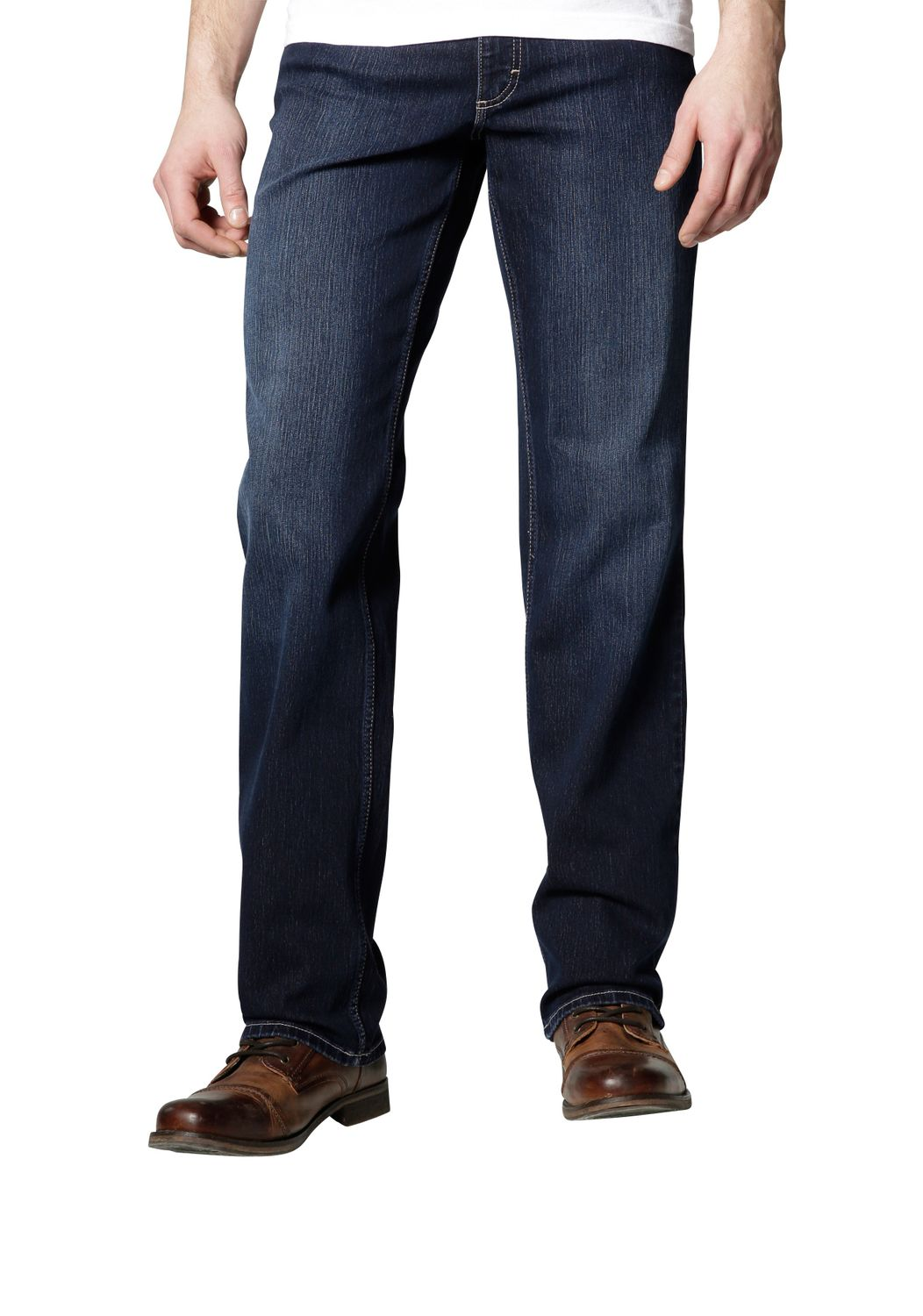 Mustang -  Herren 5-Pocket Jeans, Medium rise/Straight Leg, Farbe old stone used, Big Sur (3169-5126-580) 001