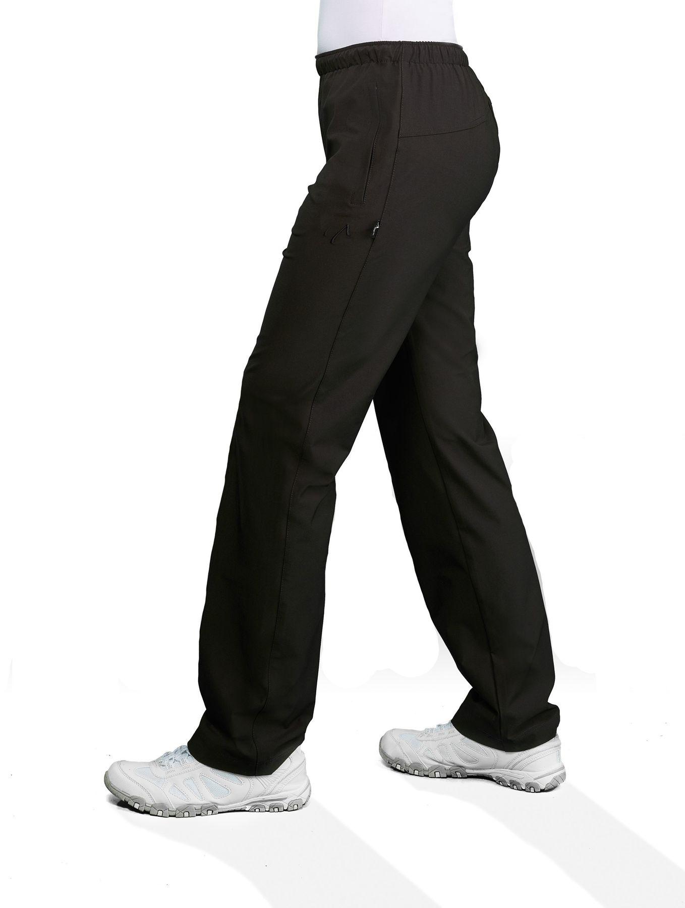 Authentic klein - Damen Sport und Freizeit Hose aus Stretchgewebe in Schwarz (03001)