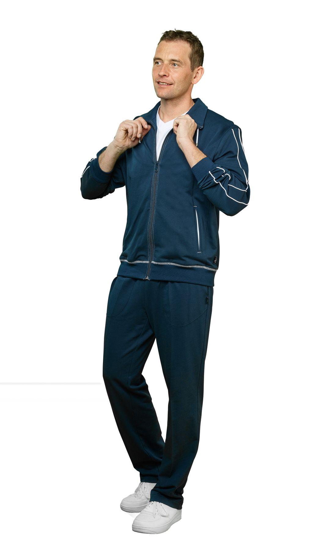 Authentic klein - Herren Sport und Freizeit Jacke aus Baumwolle in Petrol Blau oder Schwarz (53031)