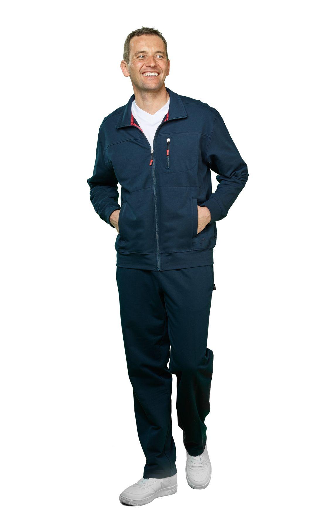 Authentic klein - Herren Sport und Freizeit Jacke aus Baumwollmix in verschiedenen Farben (53033) – Bild 1