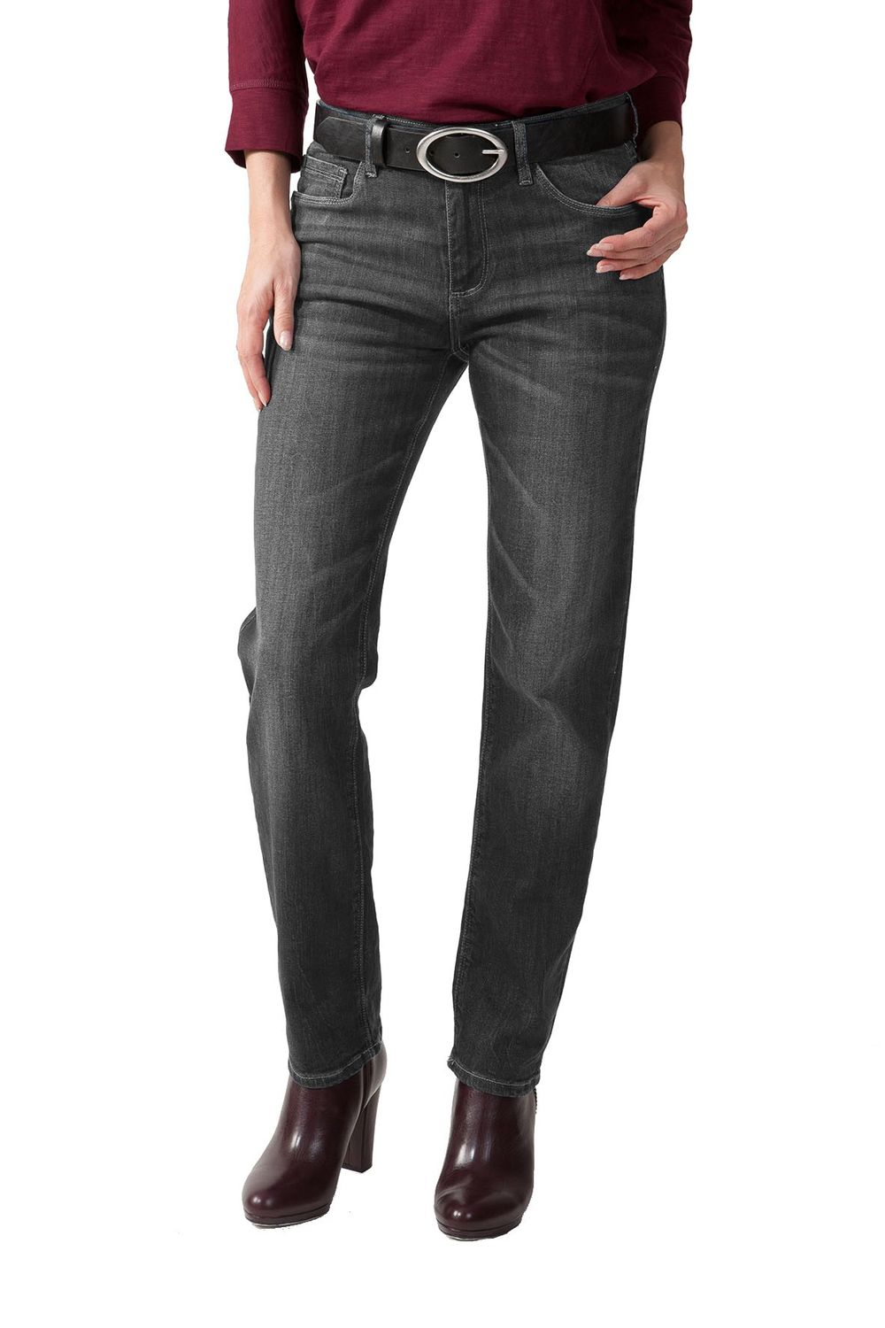 Stooker - Damen 5 Pocket Jeans in verschiedenen Farben, Slim Fit Stretch, Zermatt (1150) 001