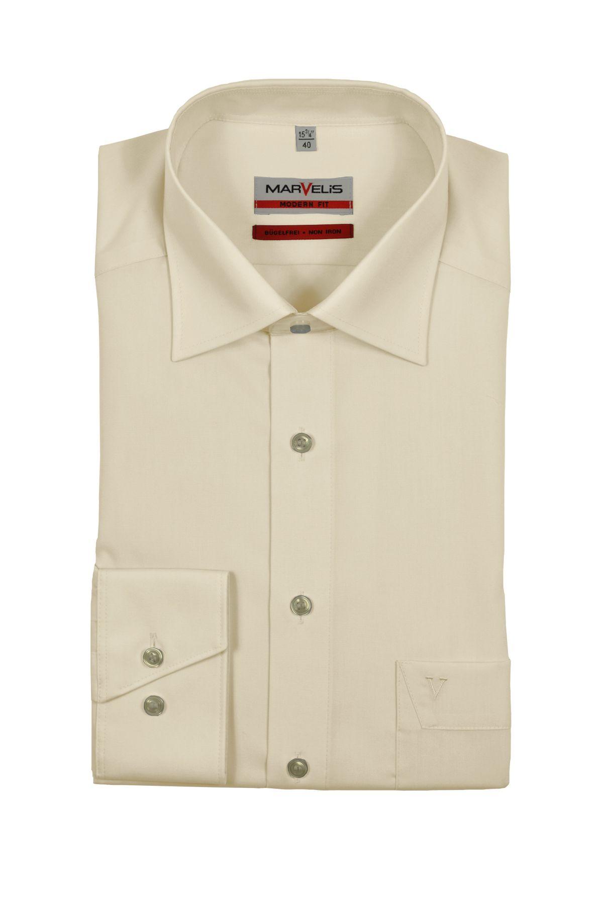 Marvelis - Modern Fit - Herren Langarm Hemd in verschiedenen Farben, Bügelfrei (4700/64) – Bild 4