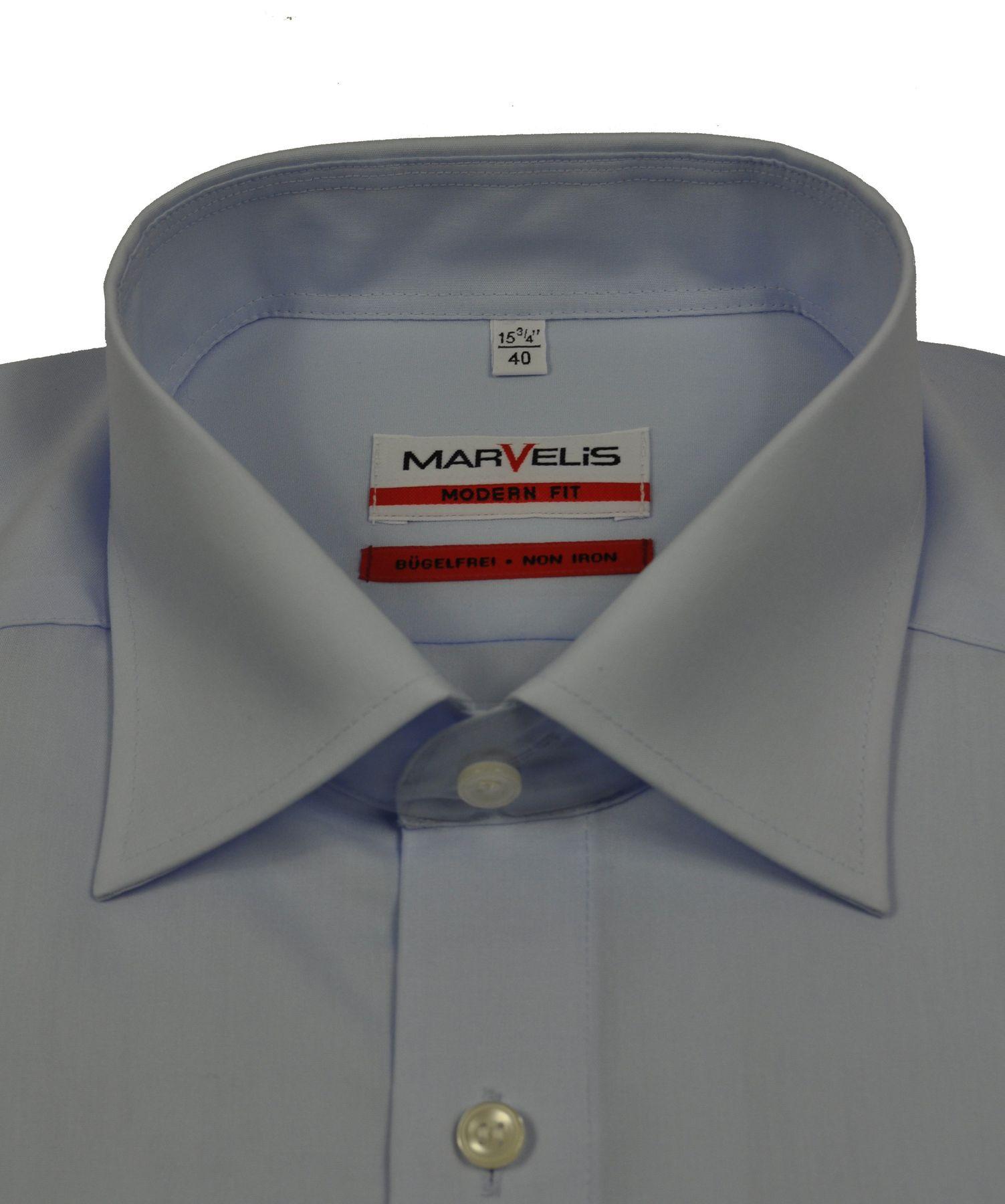 Marvelis - Modern Fit - Herren Langarm Hemd in verschiedenen Farben, Bügelfrei (4700/64) – Bild 3