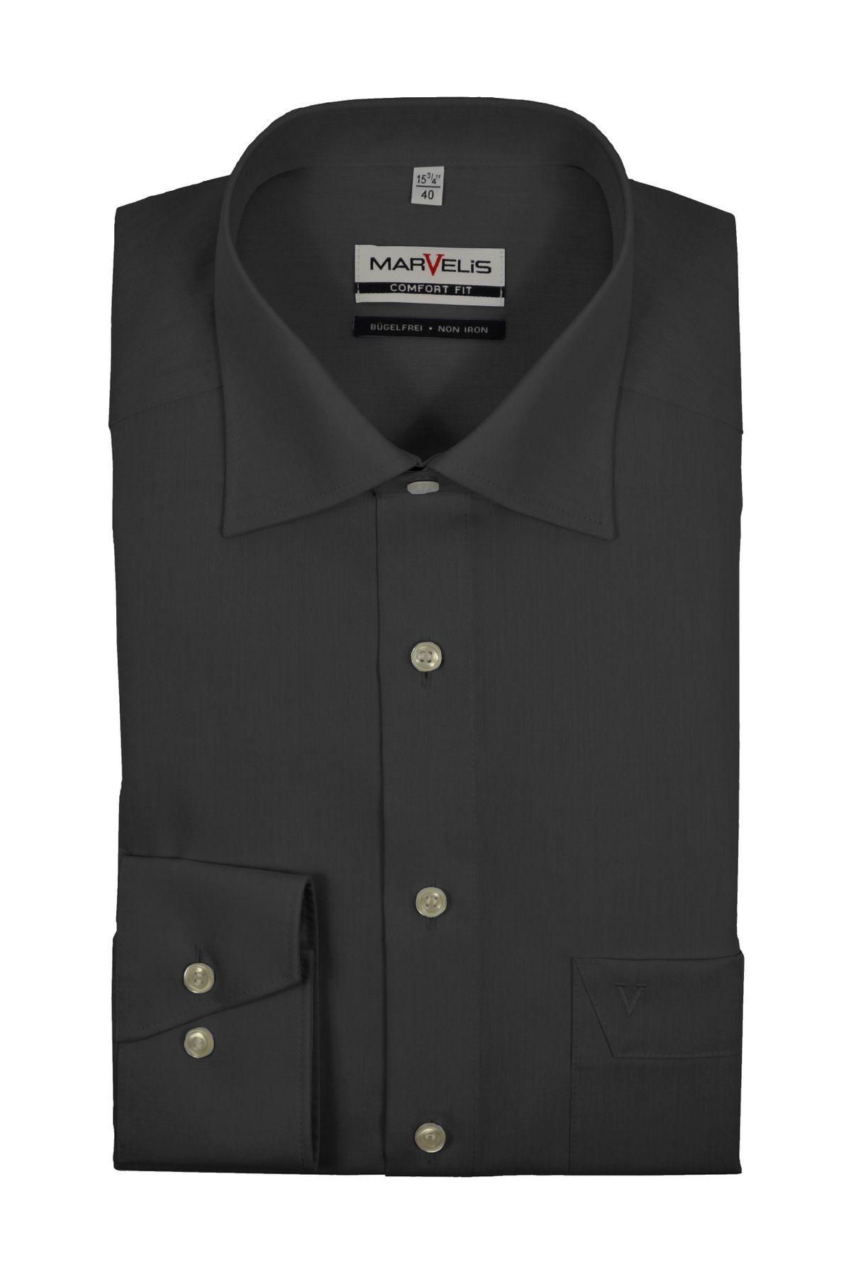 Marvelis - Comfort Fit - Bügelfreies Herren Langarm Hemd in verschiedenen Farben (7959/64) – Bild 5