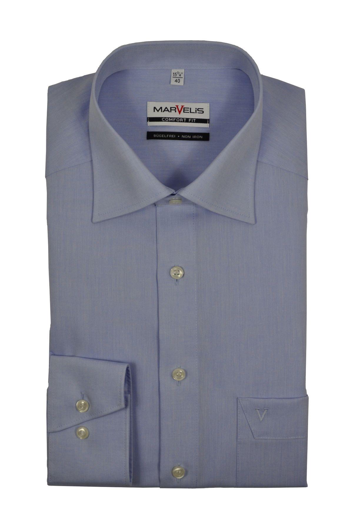 Marvelis - Comfort Fit - Bügelfreies Herren Langarm Hemd in verschiedenen Farben (7959/64)