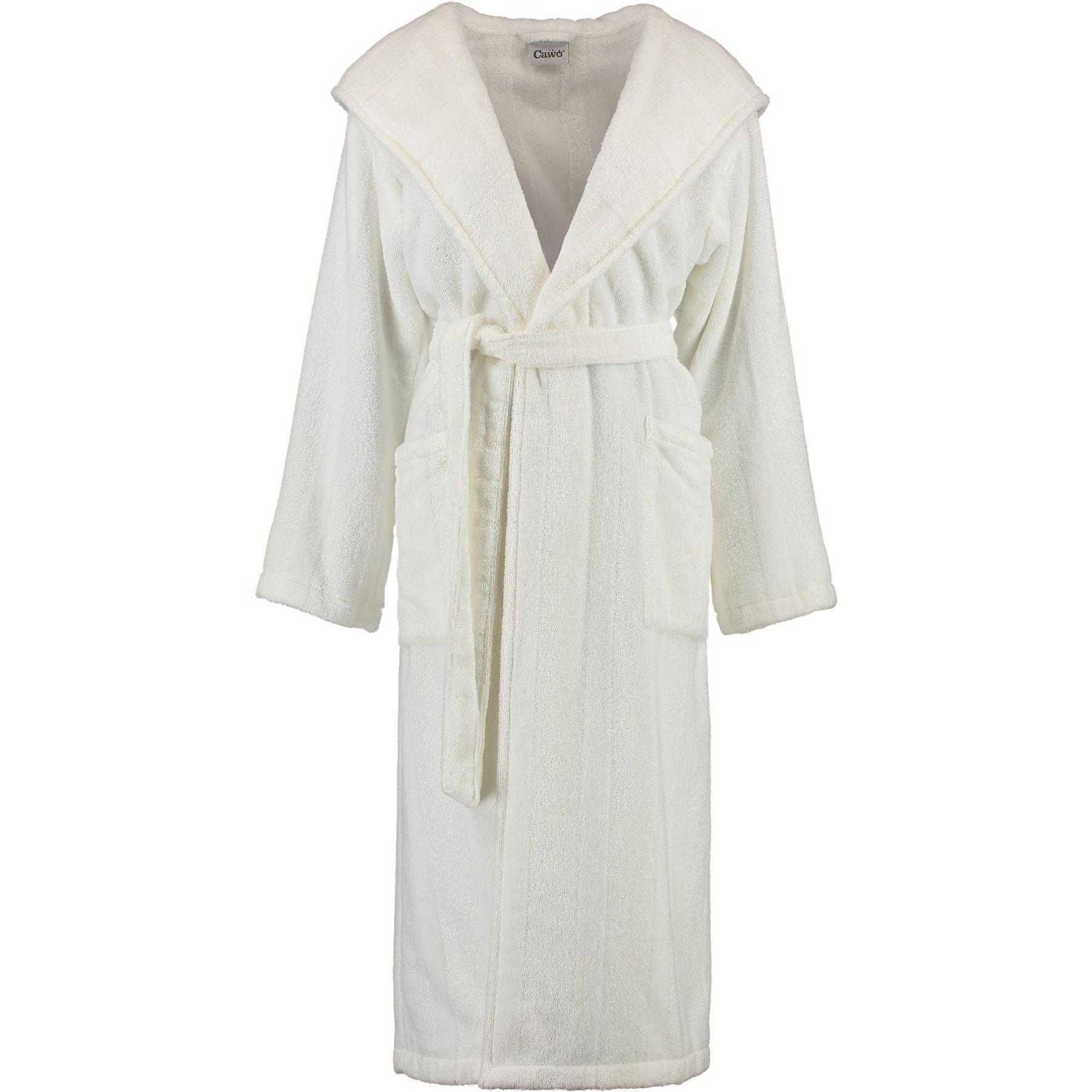 Cawö - Damen Bademantel mit Kapuze in Weiß (5343)