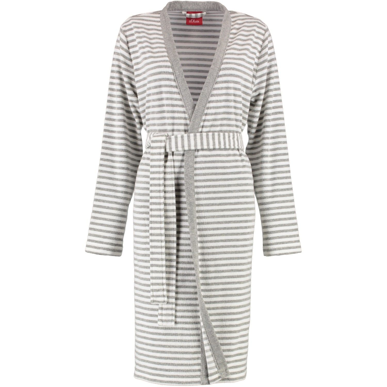 s.Oliver - Damen Bademantel mit Kimono Form in verschiedenen Farben (3712) 001